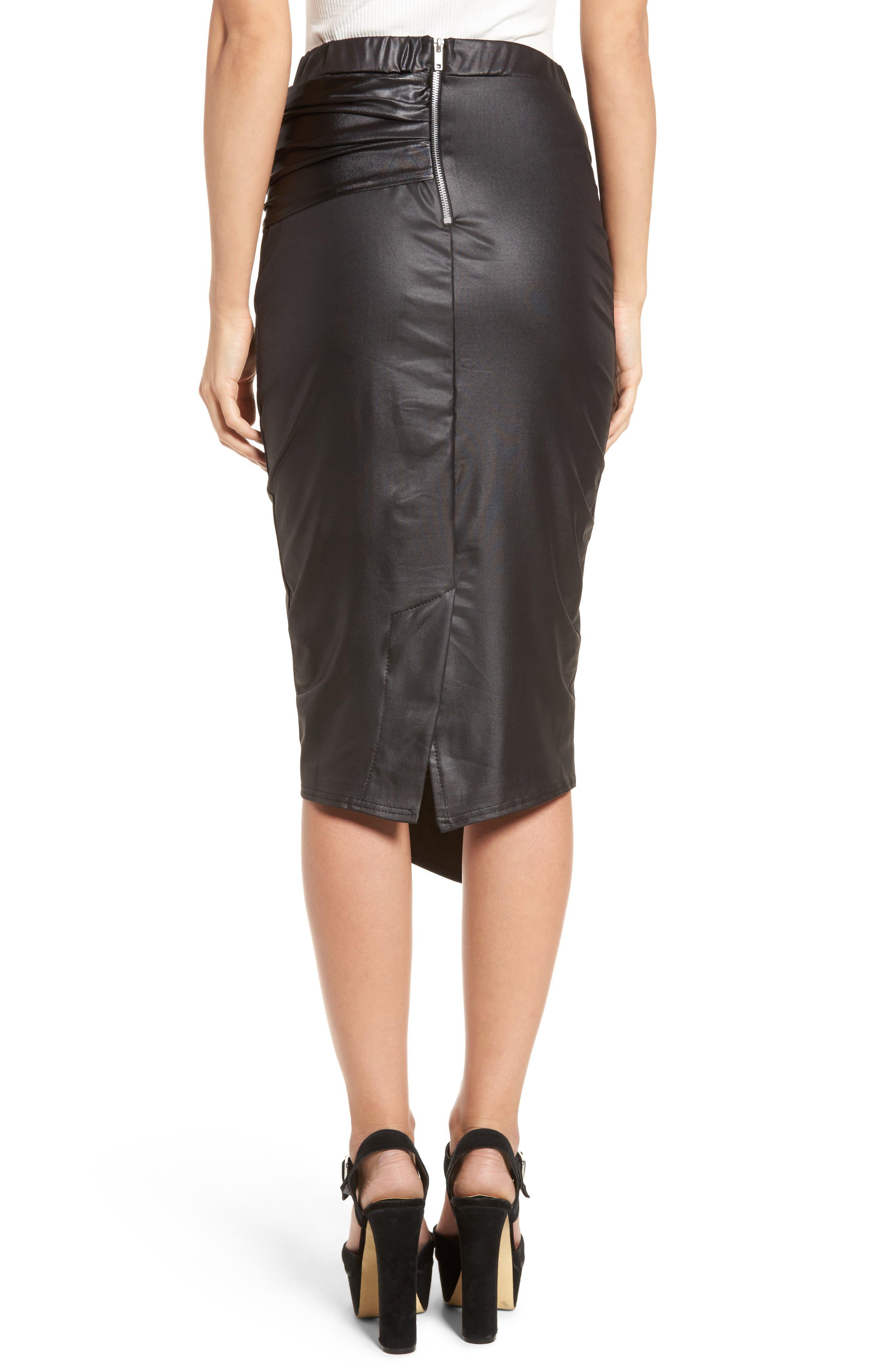 Alternate Image 3  - LOST INK Coated Cocktail Skirt