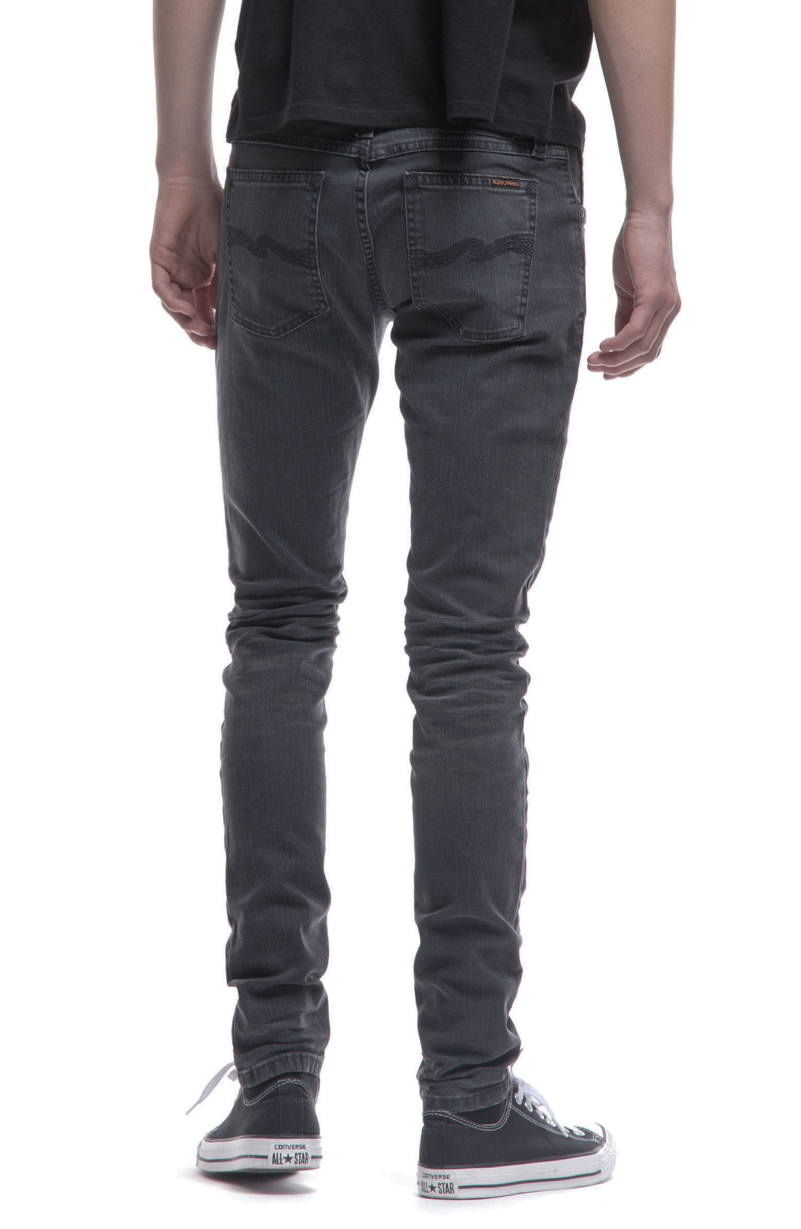 Skinny Lin Skinny Fit Jeans,                             Alternate thumbnail 2, color,                             Black Seas