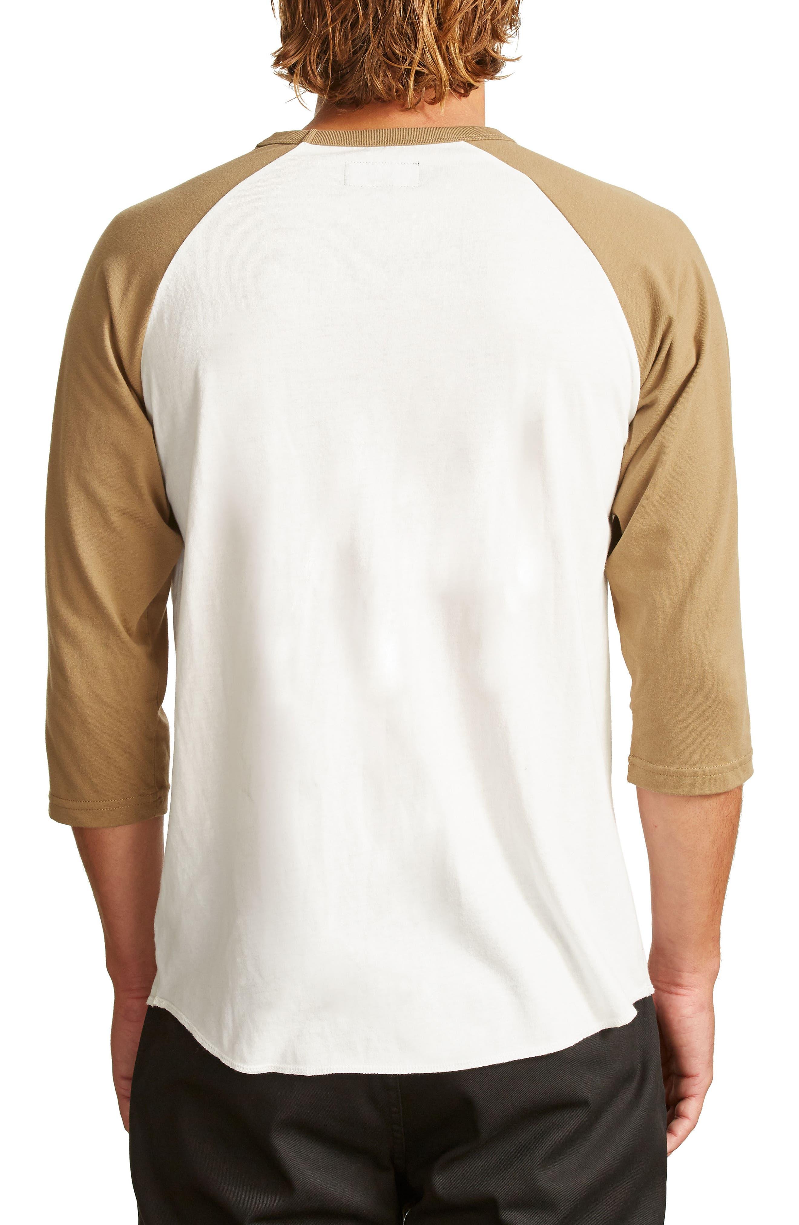 Garth Baseball T-Shirt,                             Alternate thumbnail 2, color,                             Off White