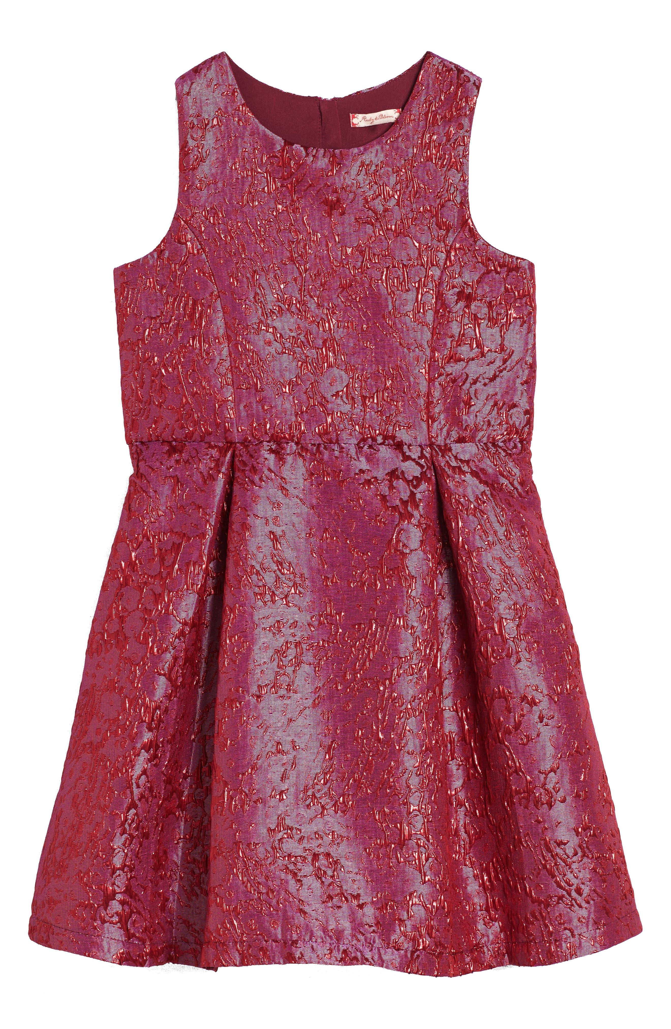 Textured Jacquard Dress,                             Main thumbnail 1, color,                             Pink Virtue Crackle
