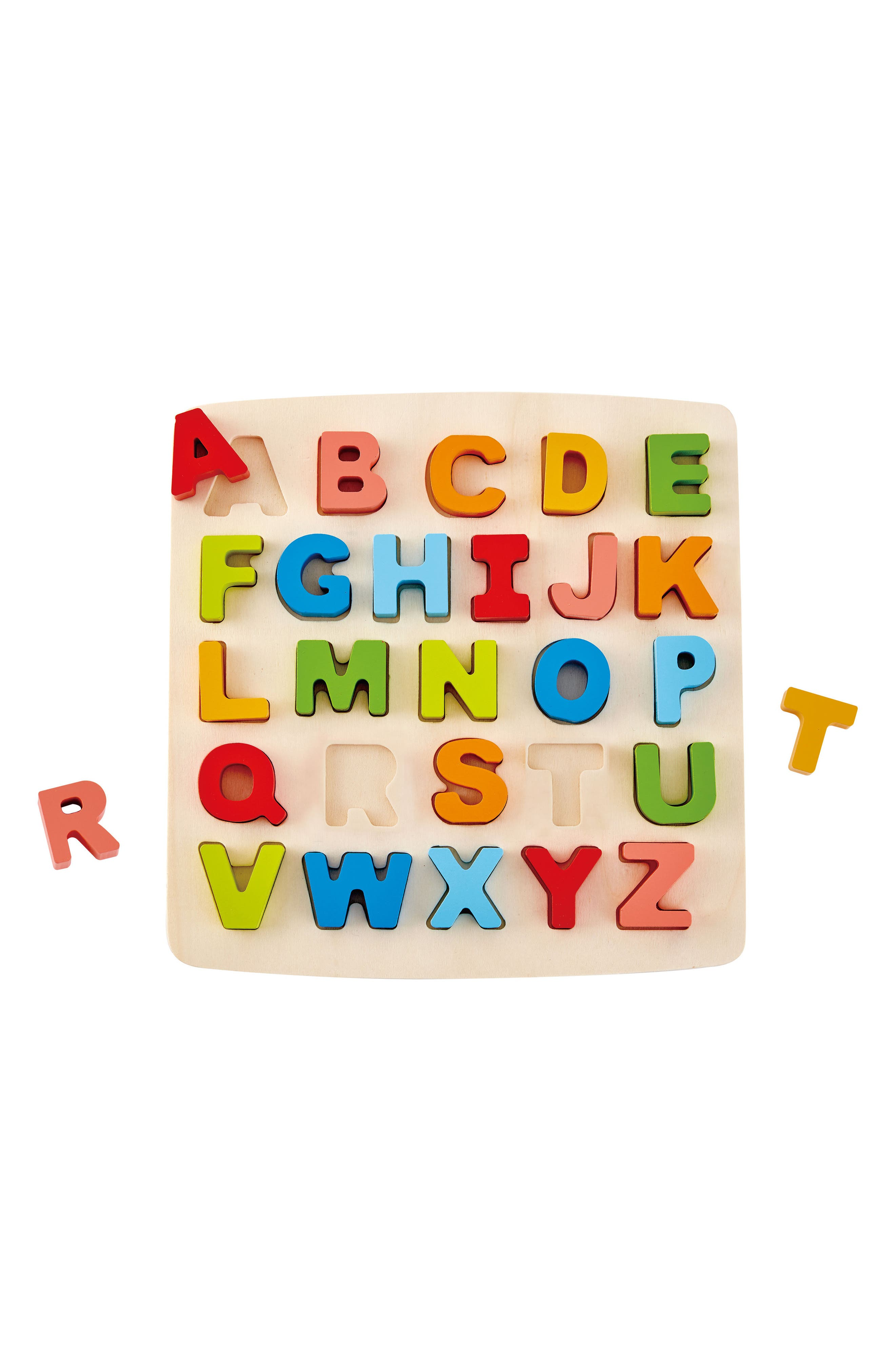 27-Piece Chunky Capital Letters Puzzle,                             Alternate thumbnail 4, color,                             Orange