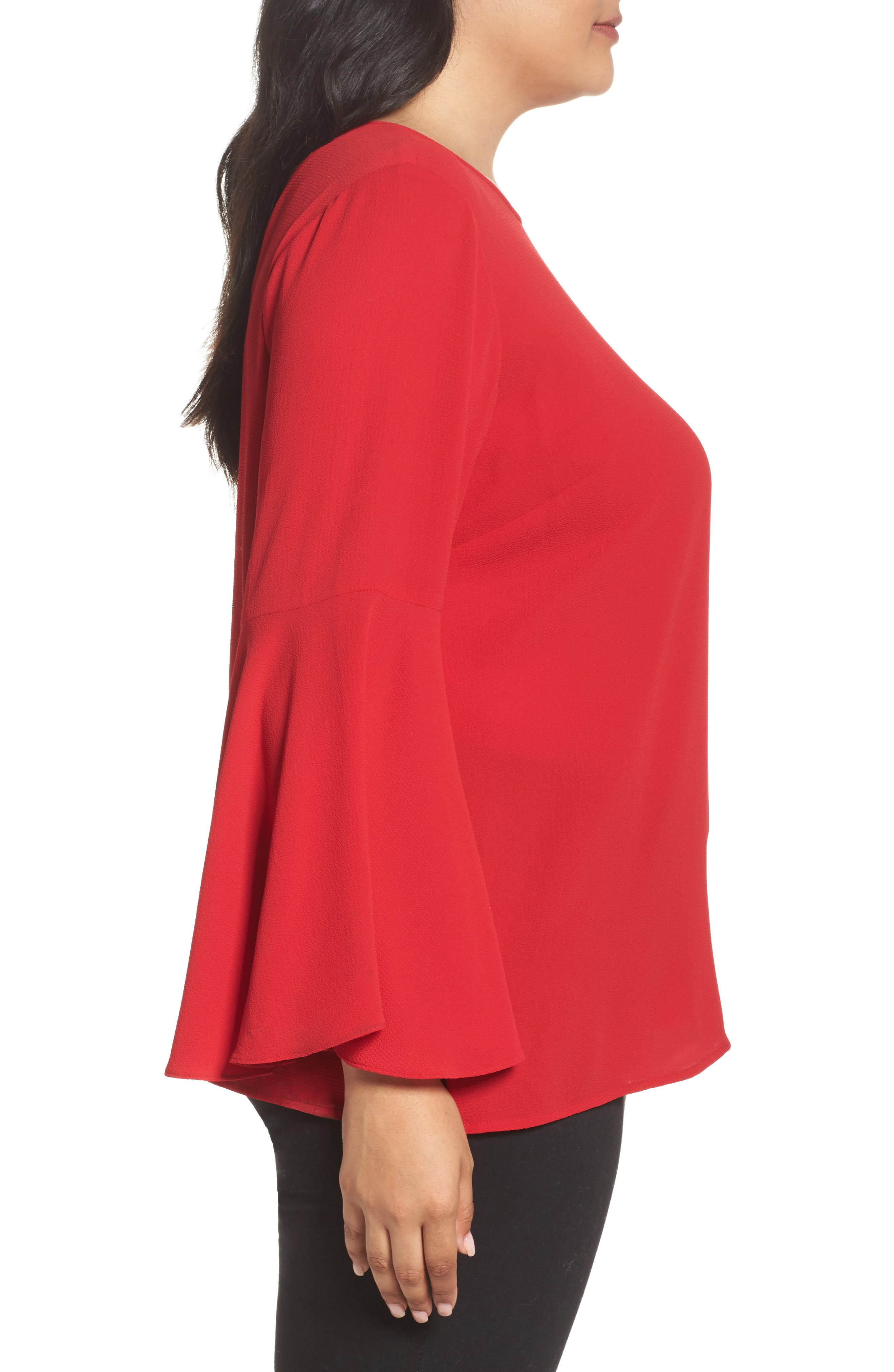 Alternate Image 3  - Vince Camuto Bell Sleeve Blouse (Plus Size)