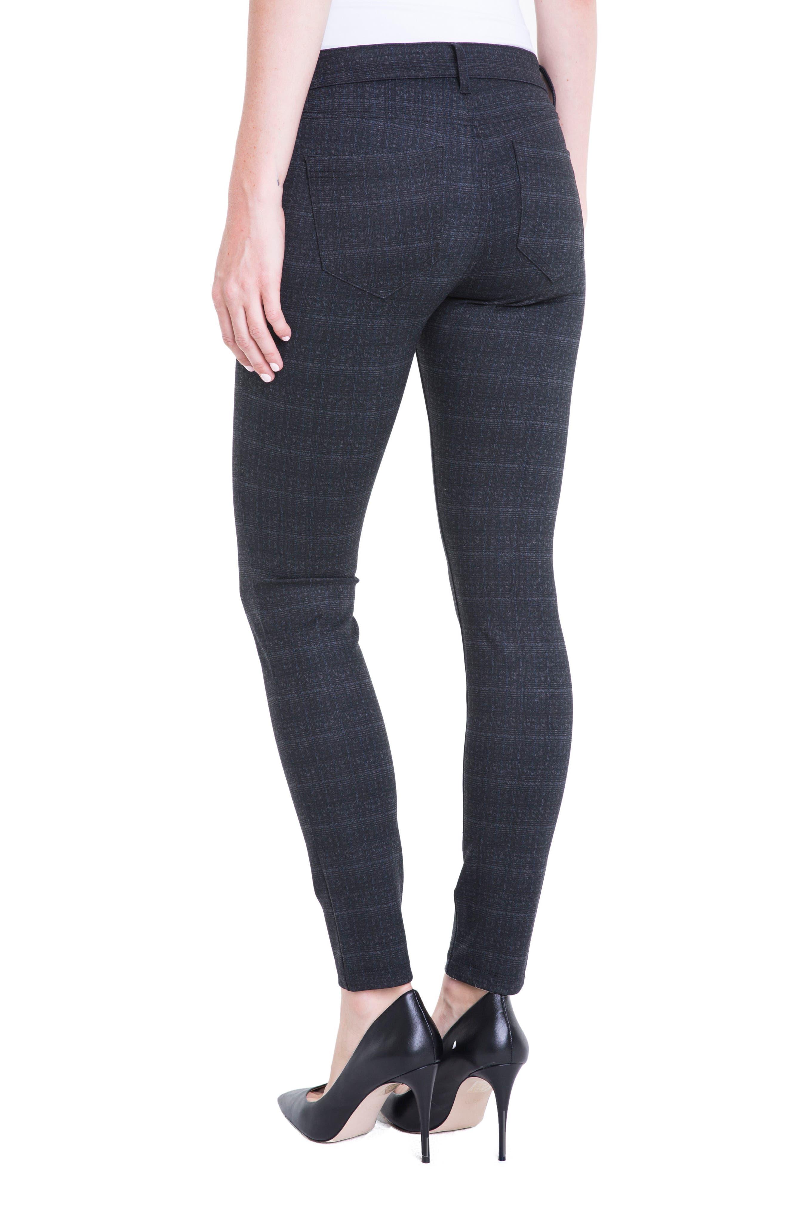 Plaid Super Skinny Ponte Knit Pants,                             Alternate thumbnail 2, color,                             Charcoal Shadow Plaid