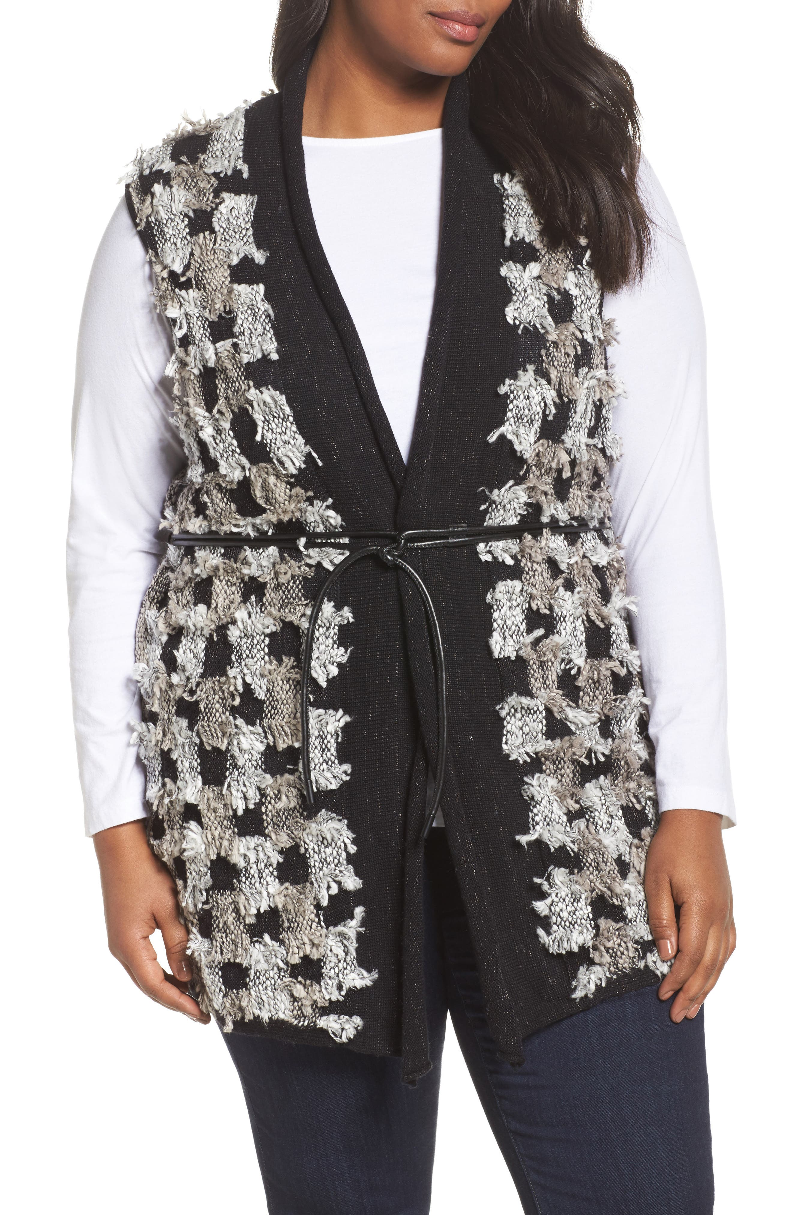 NIC+ZOE Blocked Out Vest (Plus Size)