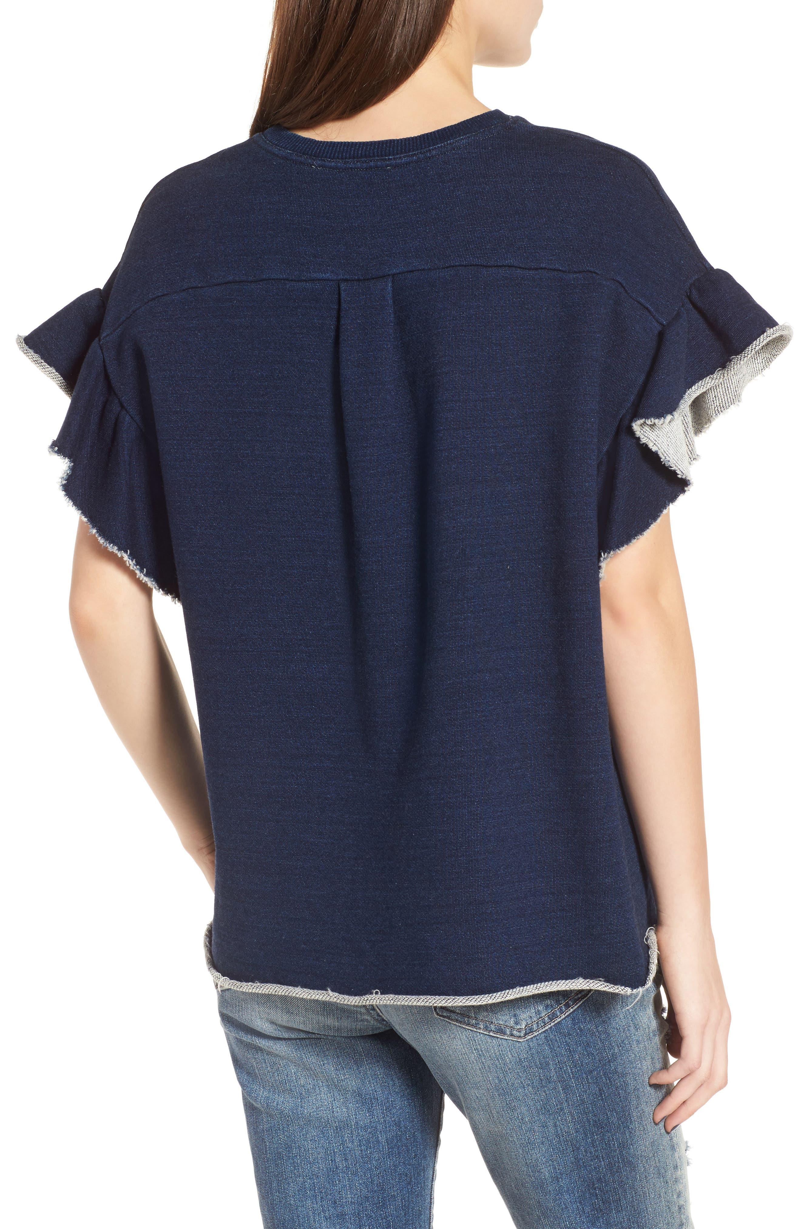 Alternate Image 2  - AG Bes Ruffle Sweatshirt