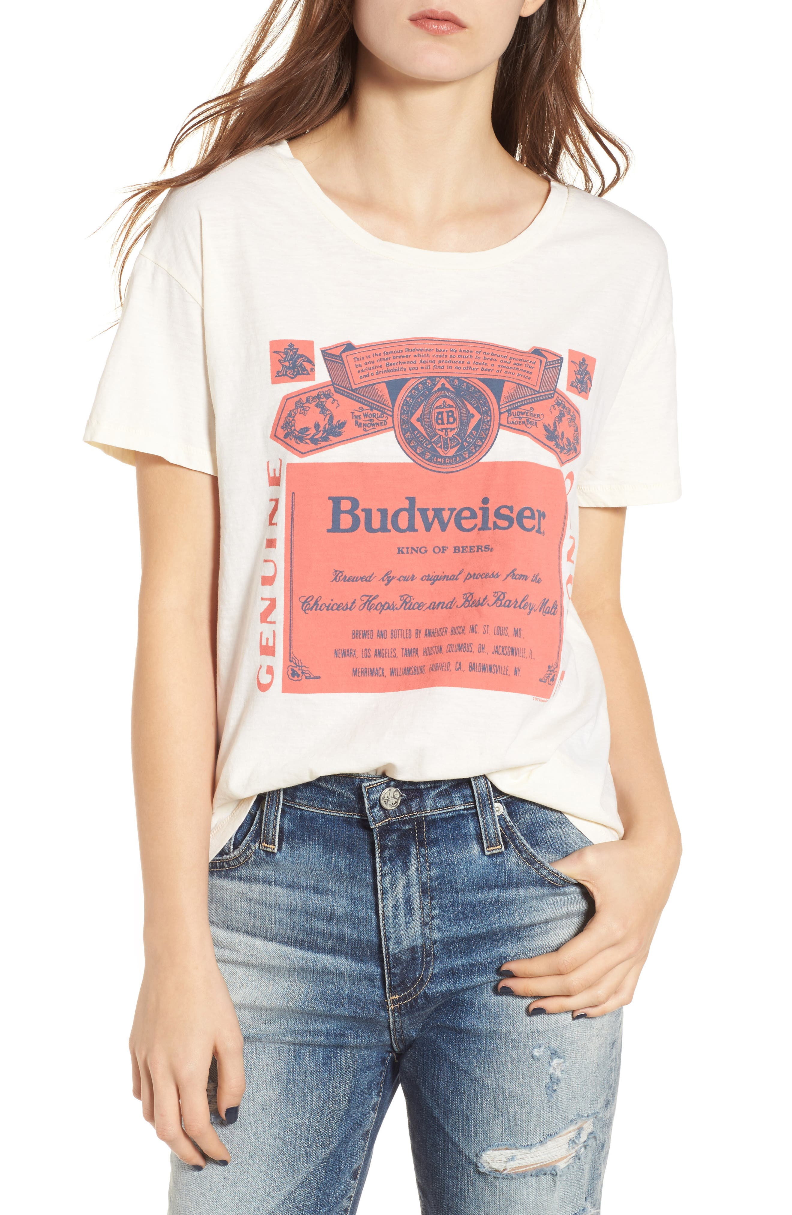 Budweiser Tee,                         Main,                         color, Ivory