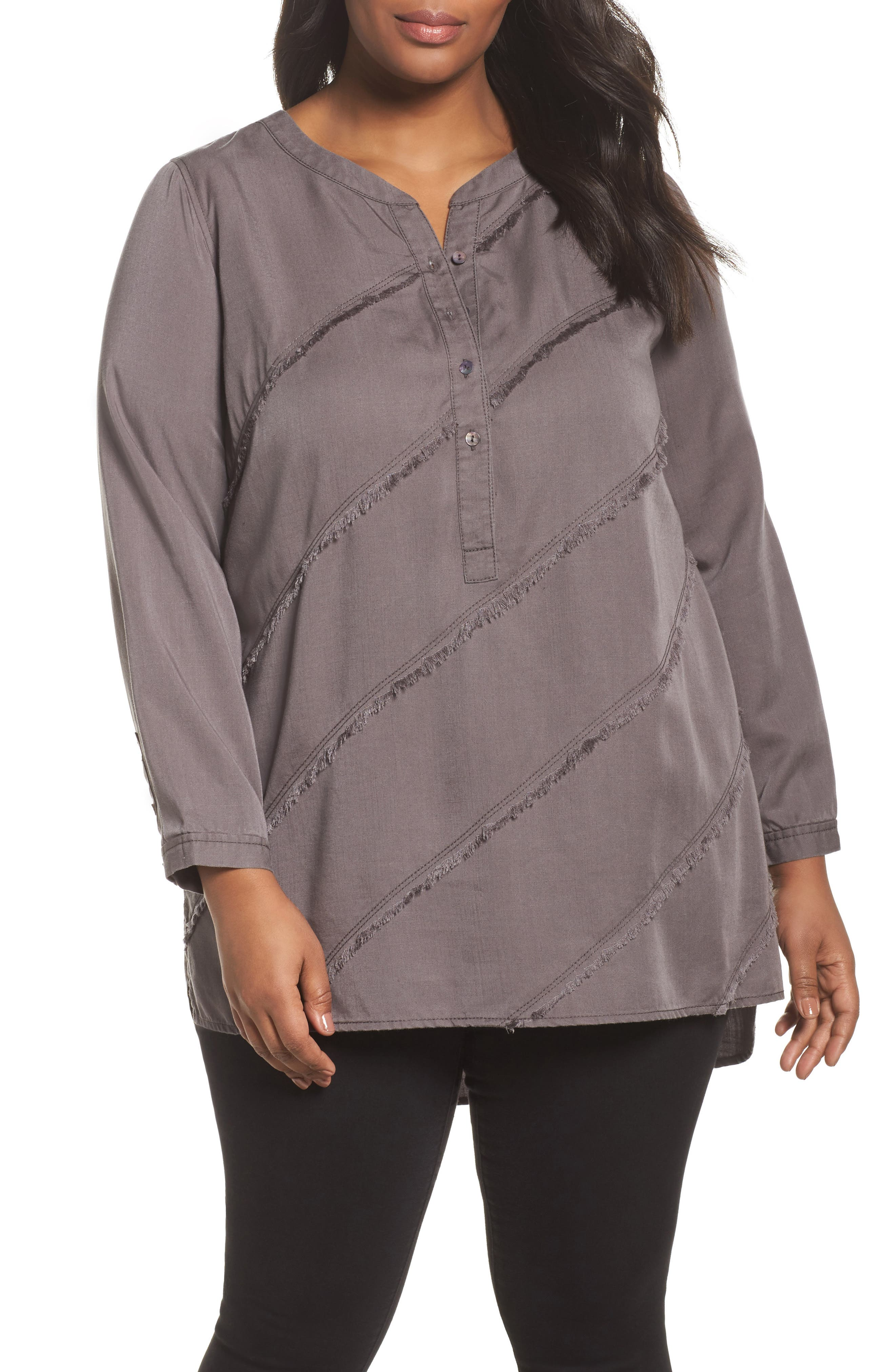Alternate Image 1 Selected - NIC+ZOE Tranquil Tunic Top (Plus Size)