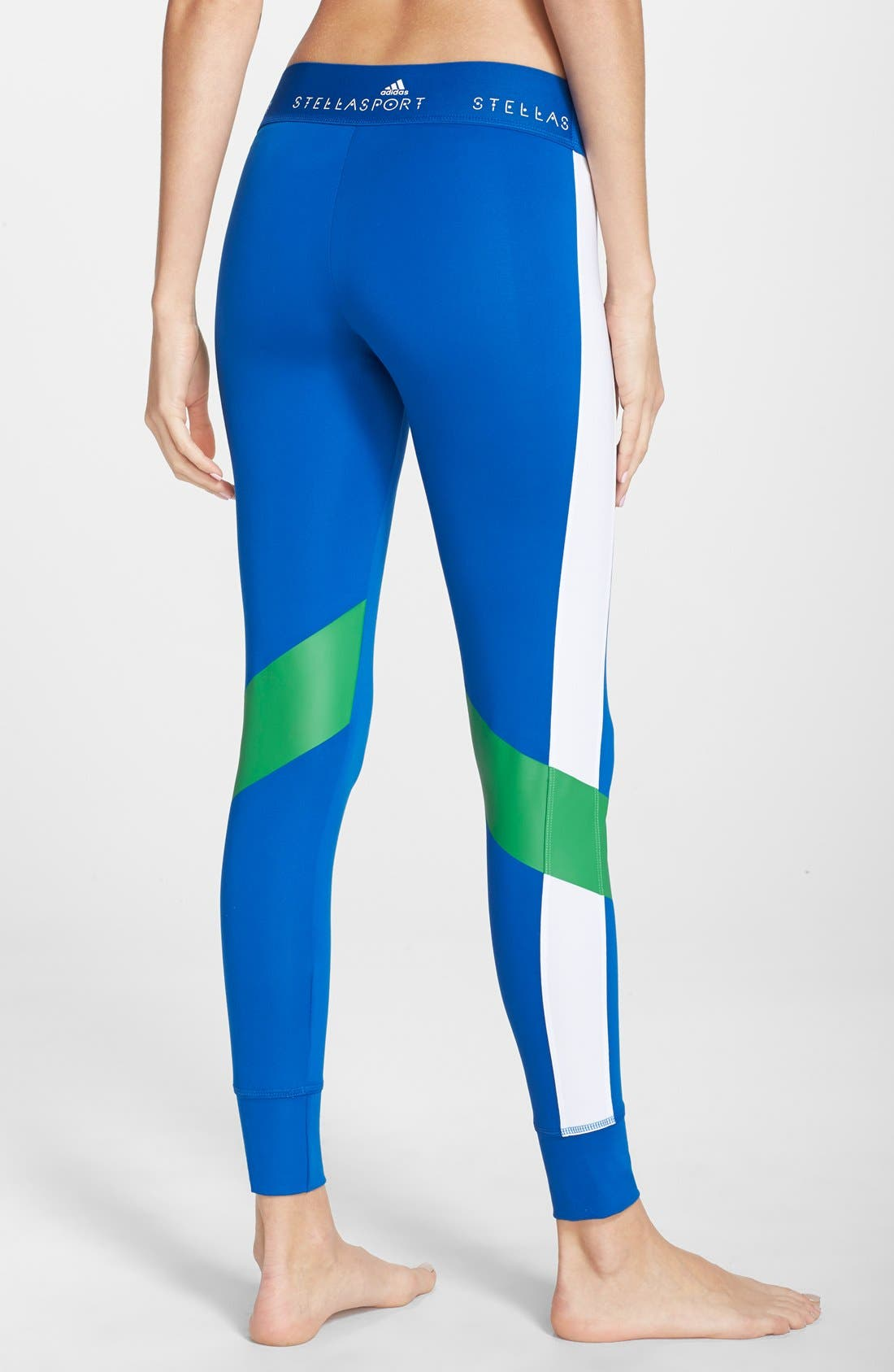 Alternate Image 2  - adidas by Stella McCartney Colorblock Training Tights