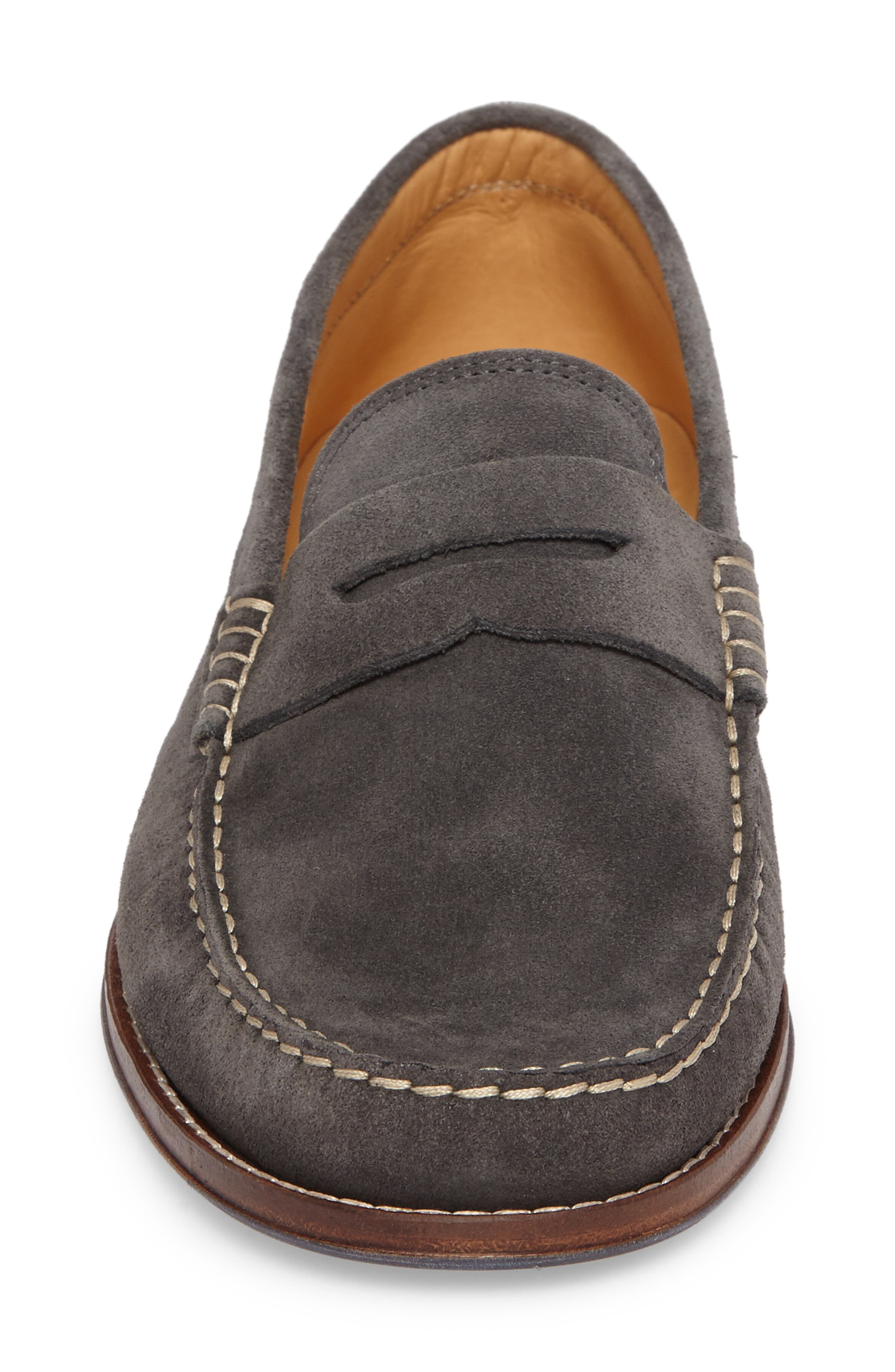 Ripley Penny Loafer,                             Alternate thumbnail 4, color,                             Grey Leather