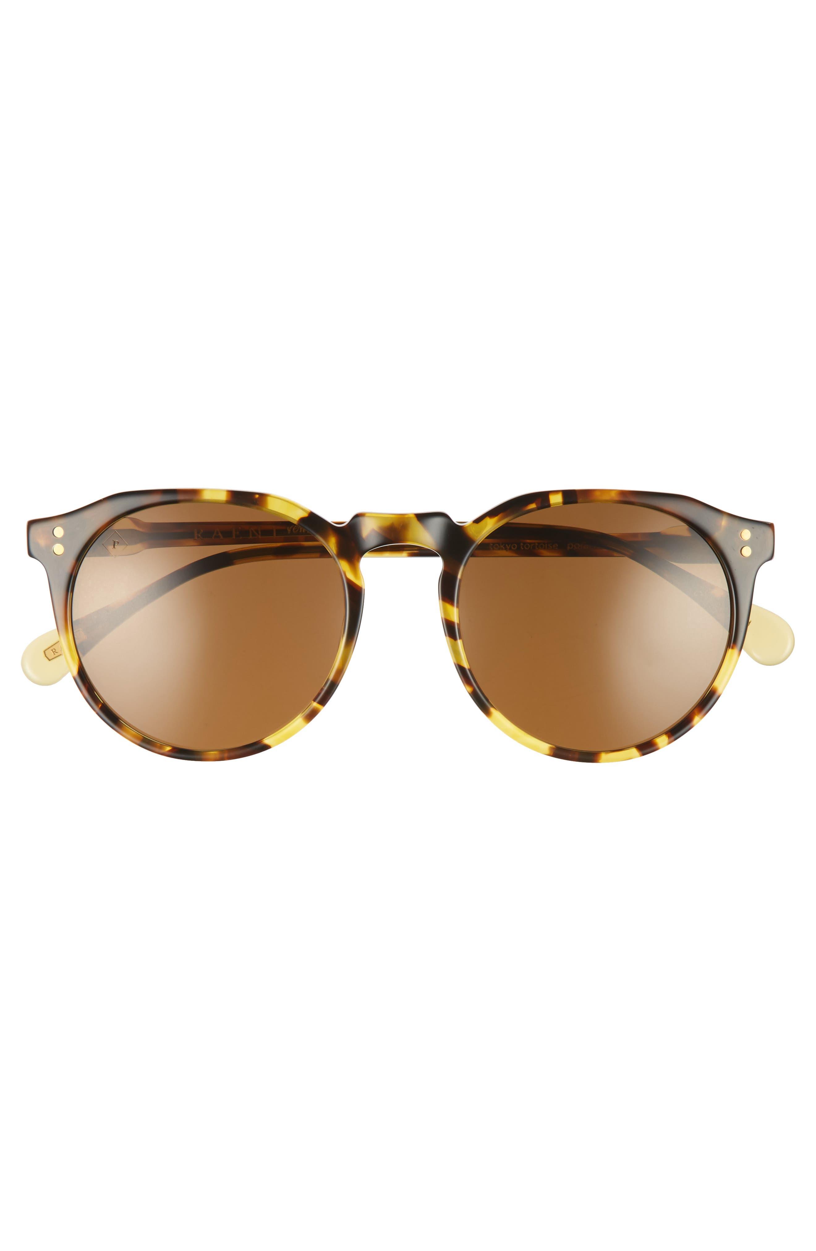 Remmy 52mm Polarized Sunglasses,                             Alternate thumbnail 2, color,                             Tokyo Tortoise/ Brown