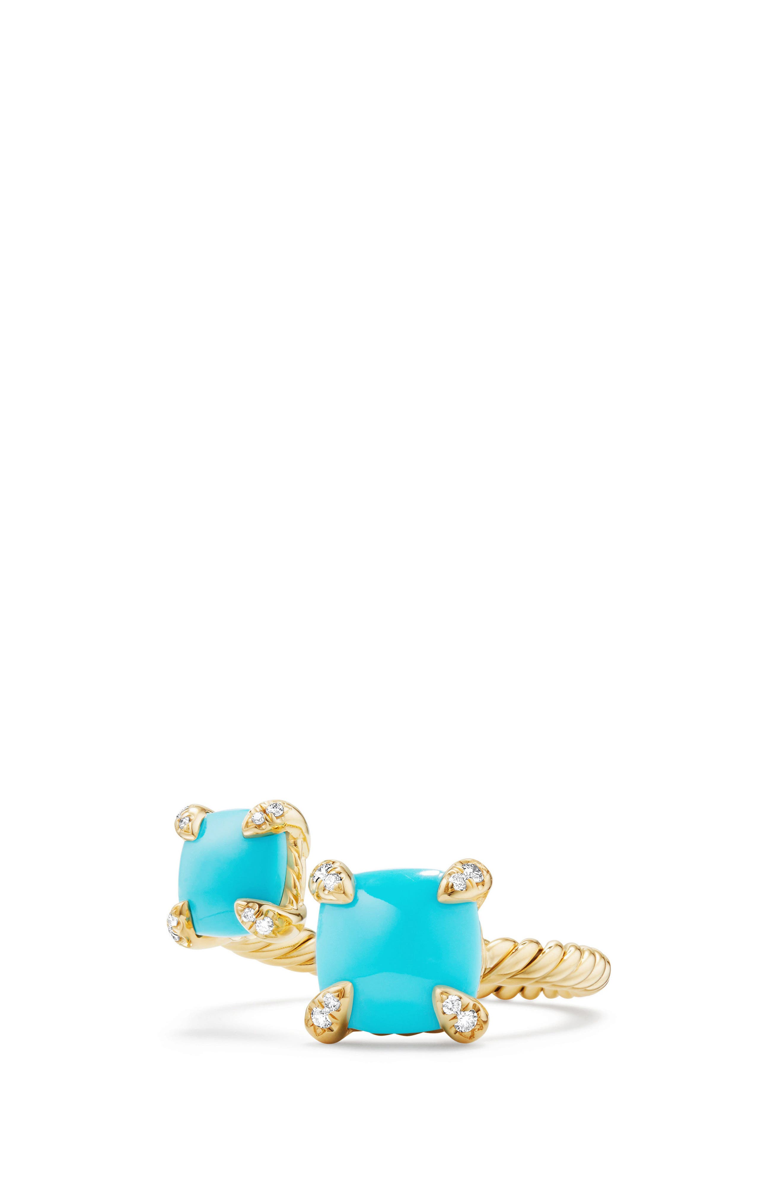 Chatelaine Bypass Diamond Ring,                         Main,                         color, Turquoise
