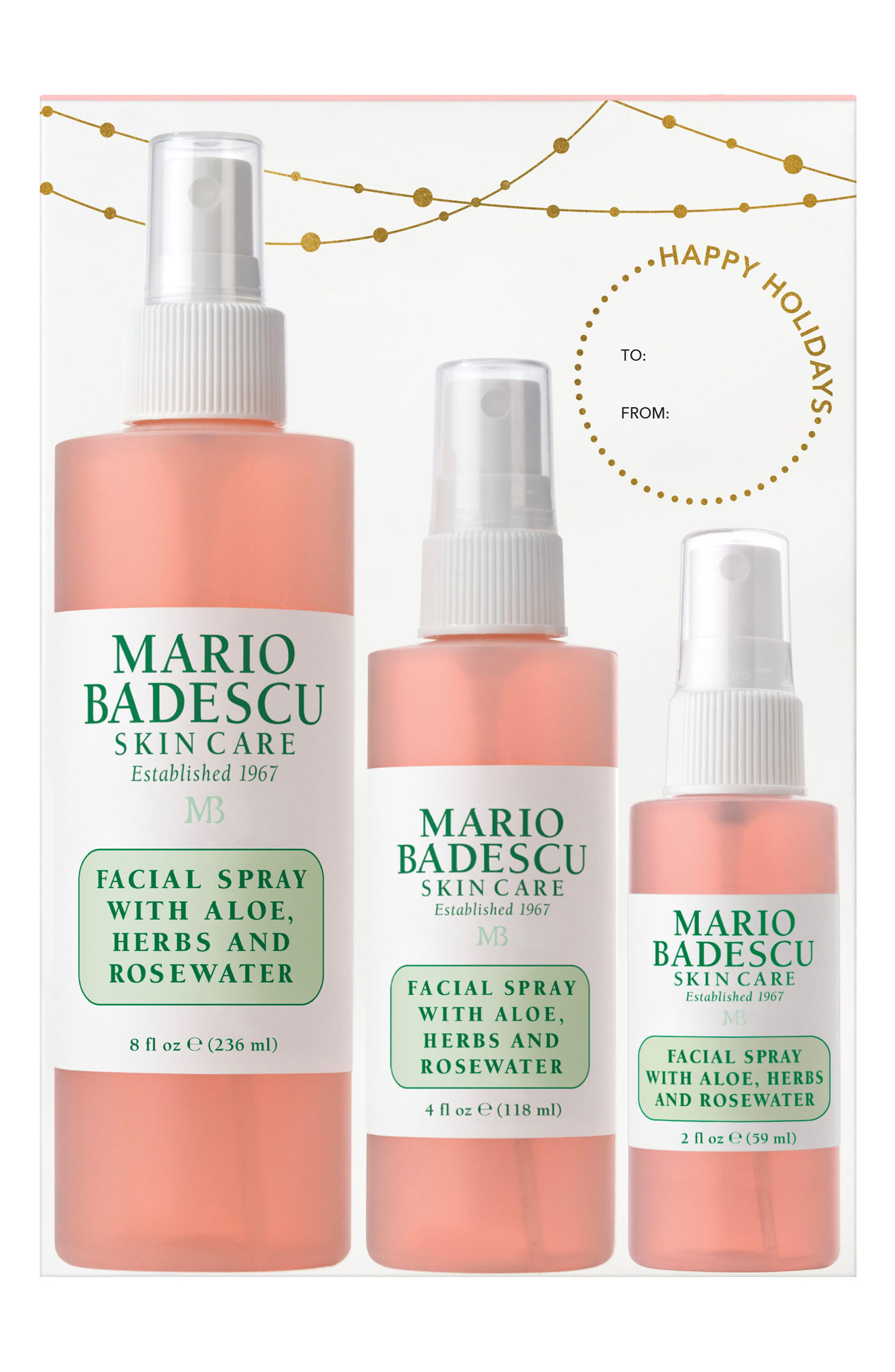 Mario Badescu Facial Spray with Aloe, Herbs & Rosewater Trio