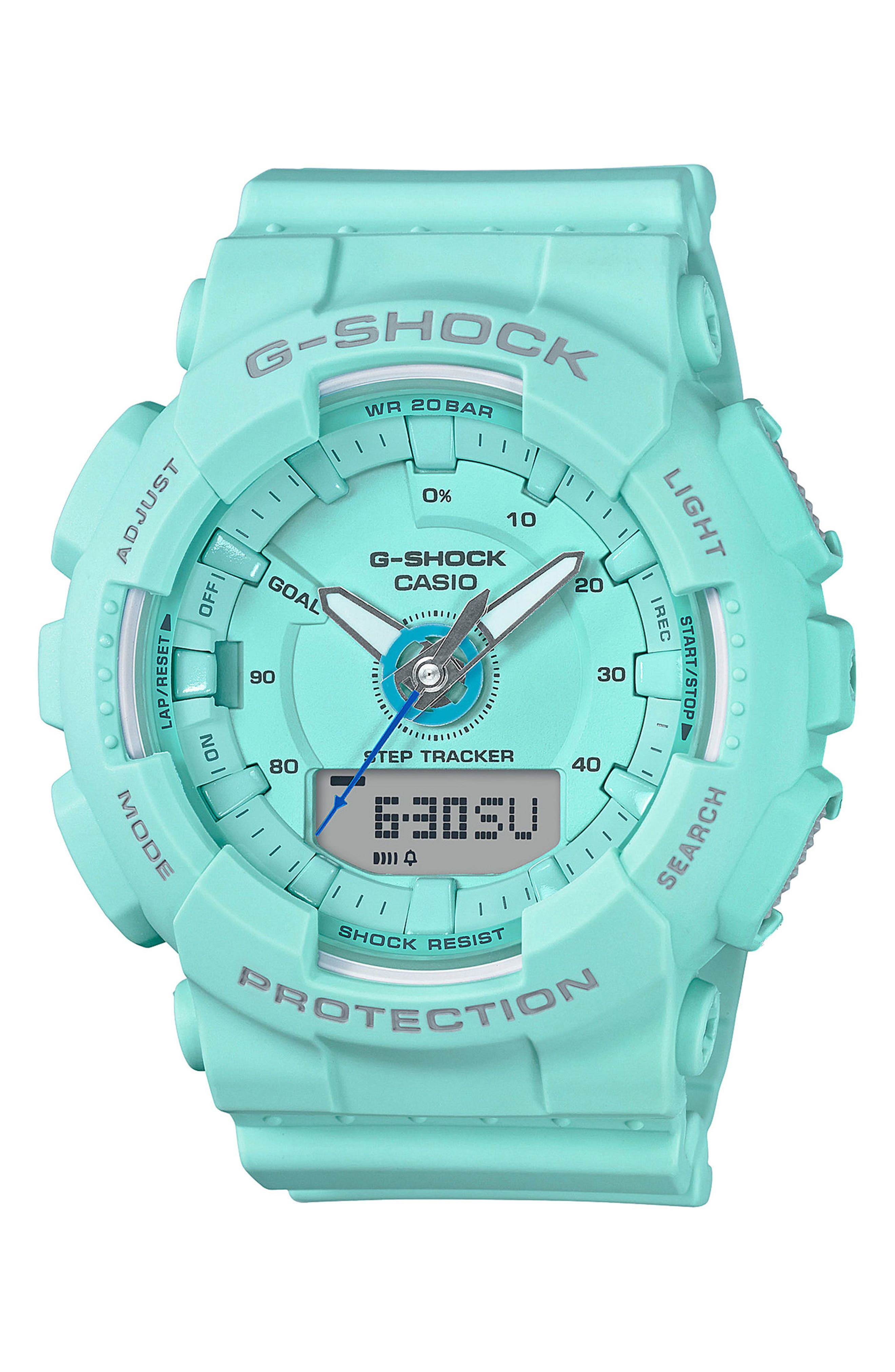 S-Series Resin Ana-Digi Watch, 46mm,                         Main,                         color, Blue
