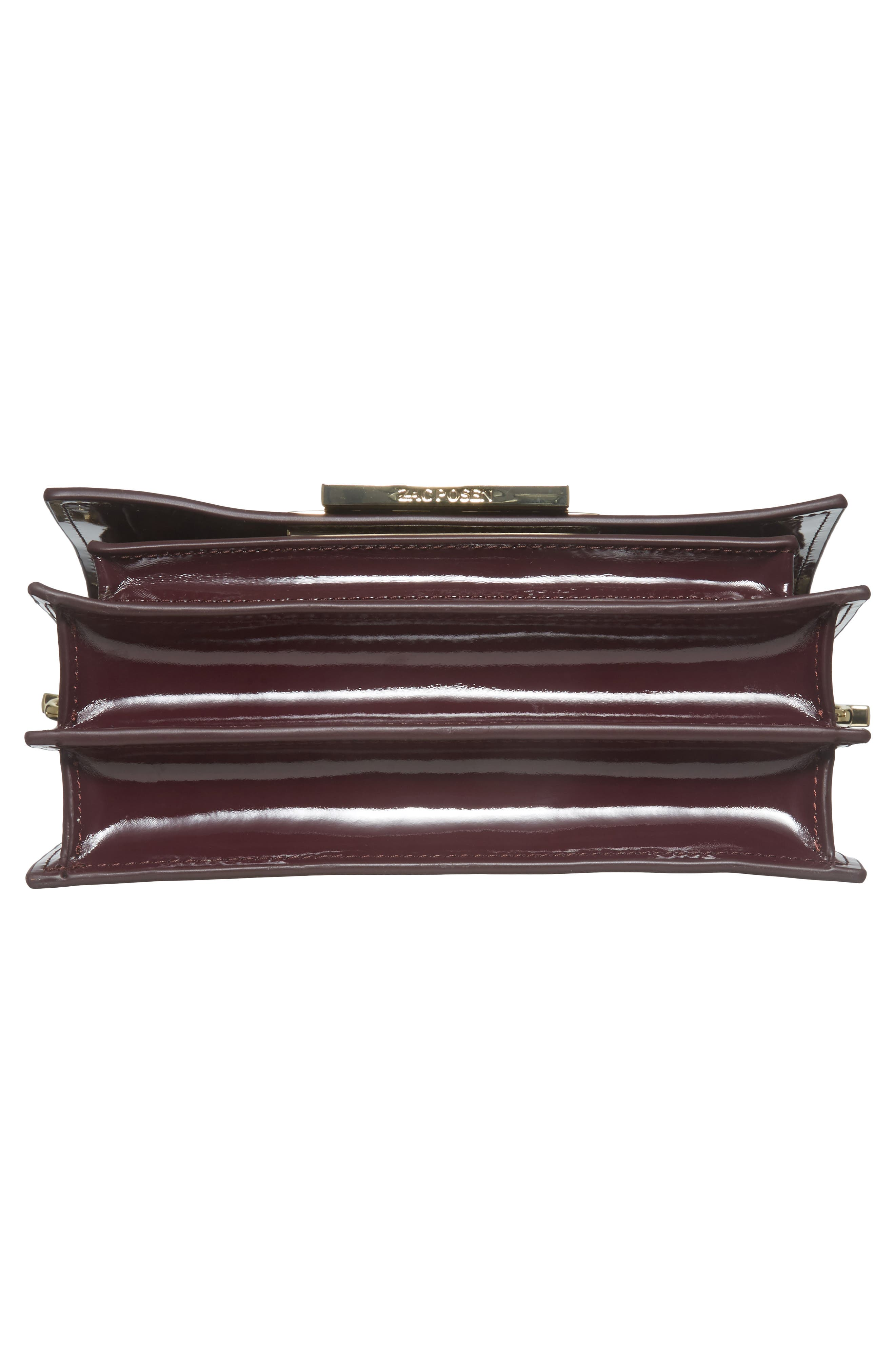 Alternate Image 5  - ZAC Zac Posen Earthette Patent Leather Accordion Bag
