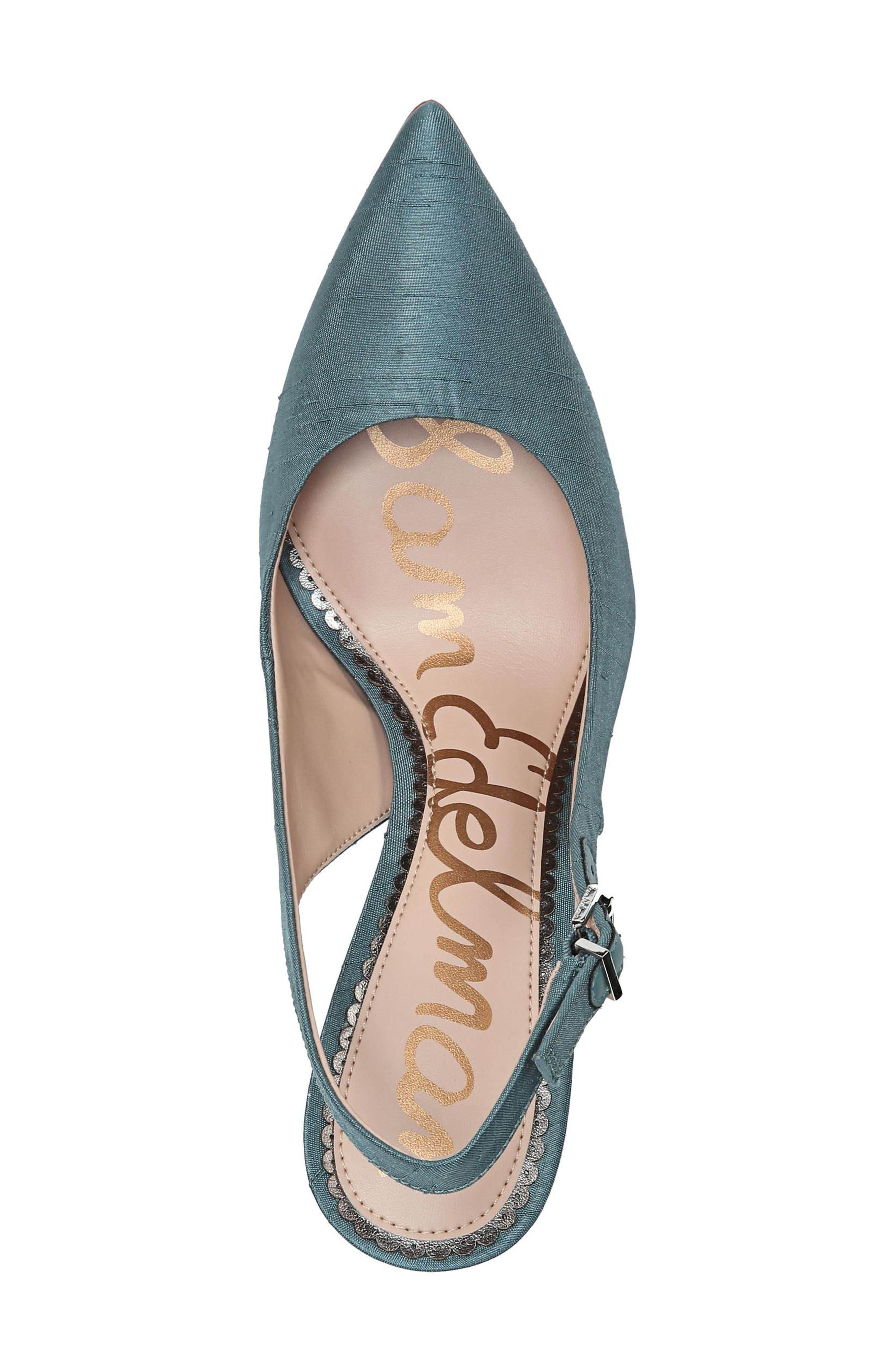 Hastings Slingback Pump,                             Alternate thumbnail 5, color,                             Blue Shadow