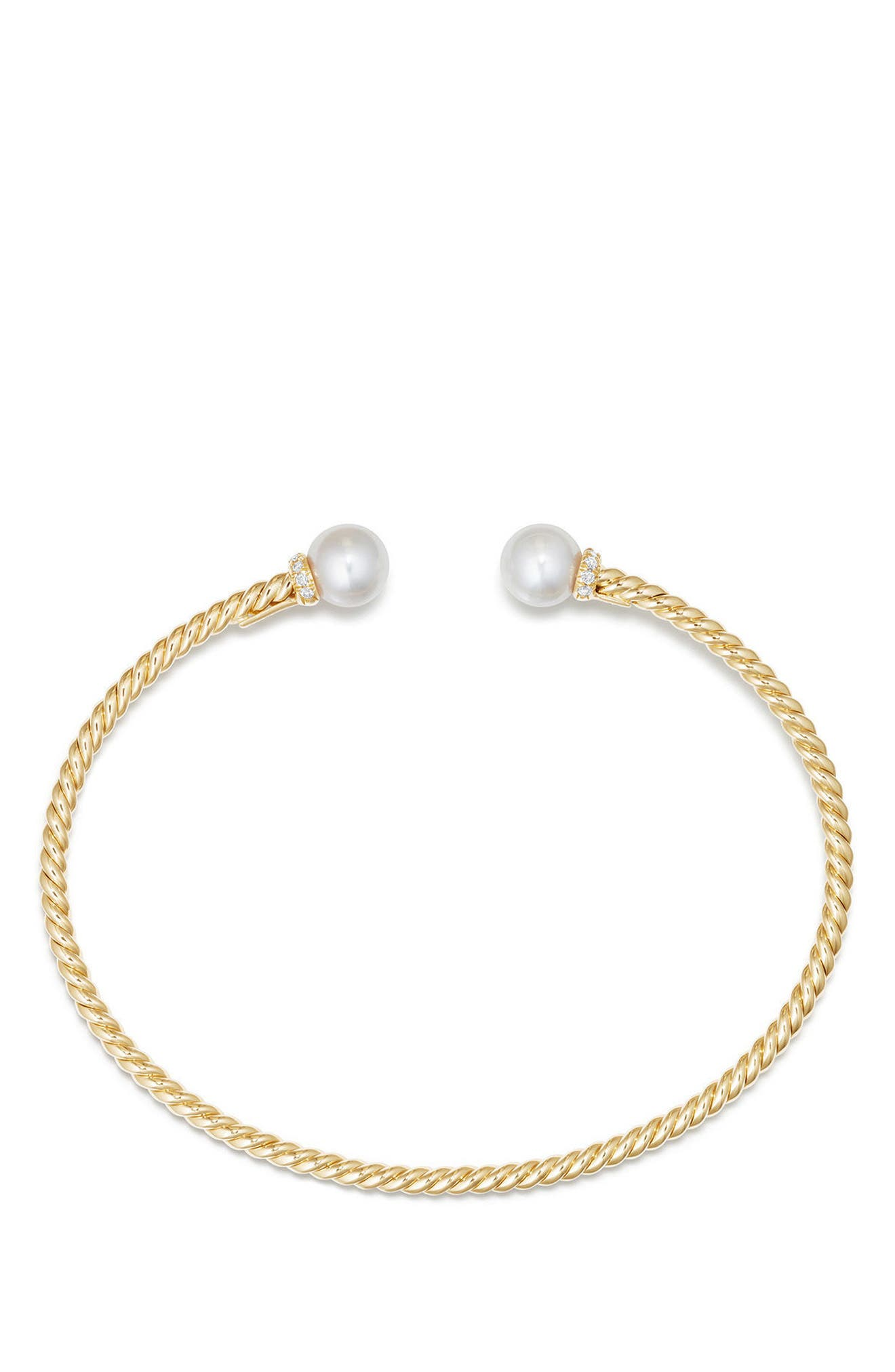 Solari Pearl Bracelet with Diamonds in 18K Gold,                             Alternate thumbnail 2, color,                             Yellow Gold/ Diamond