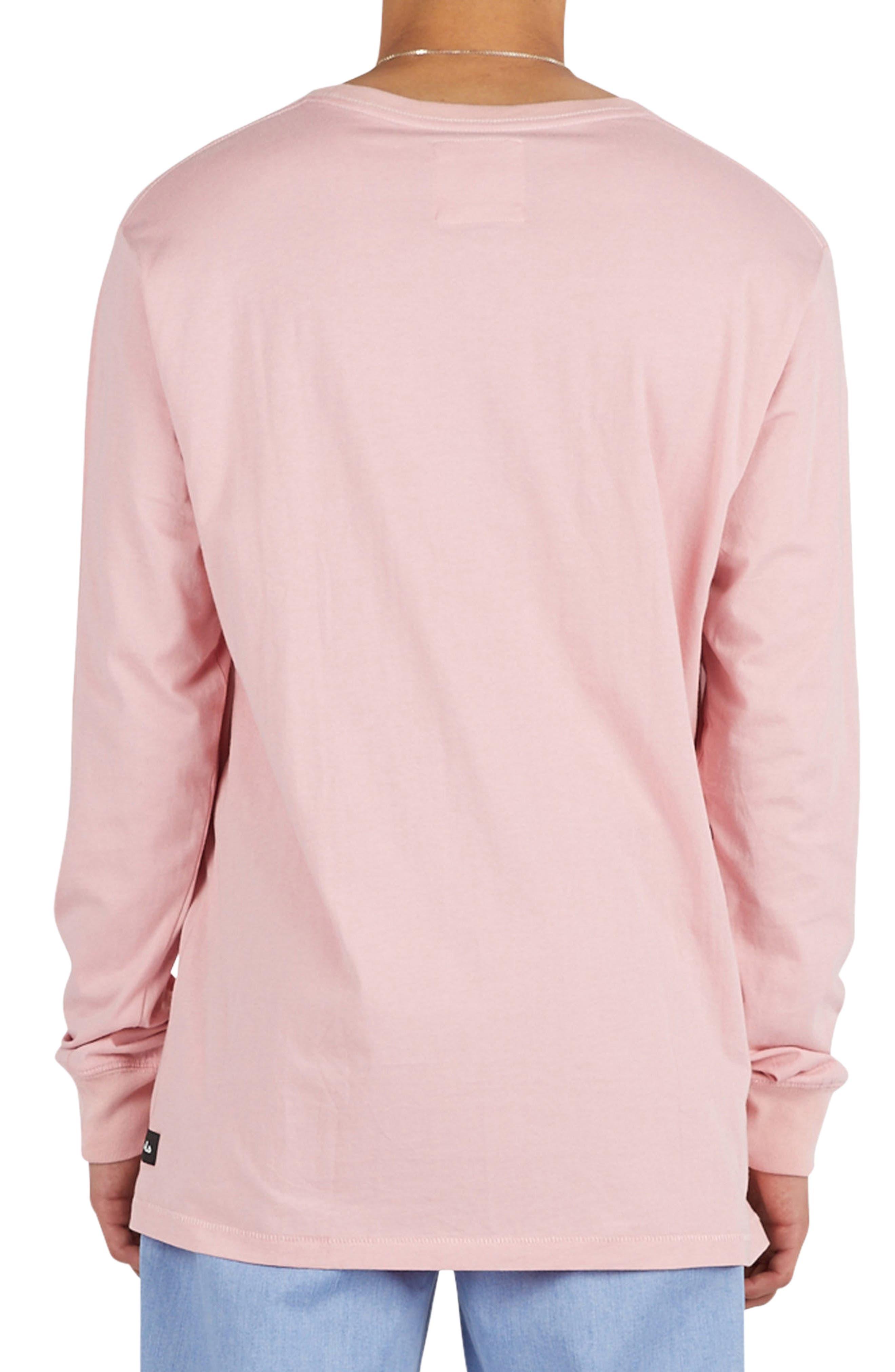 Pink Animals Long Sleeve T-Shirt,                             Alternate thumbnail 2, color,                             Pink Animals