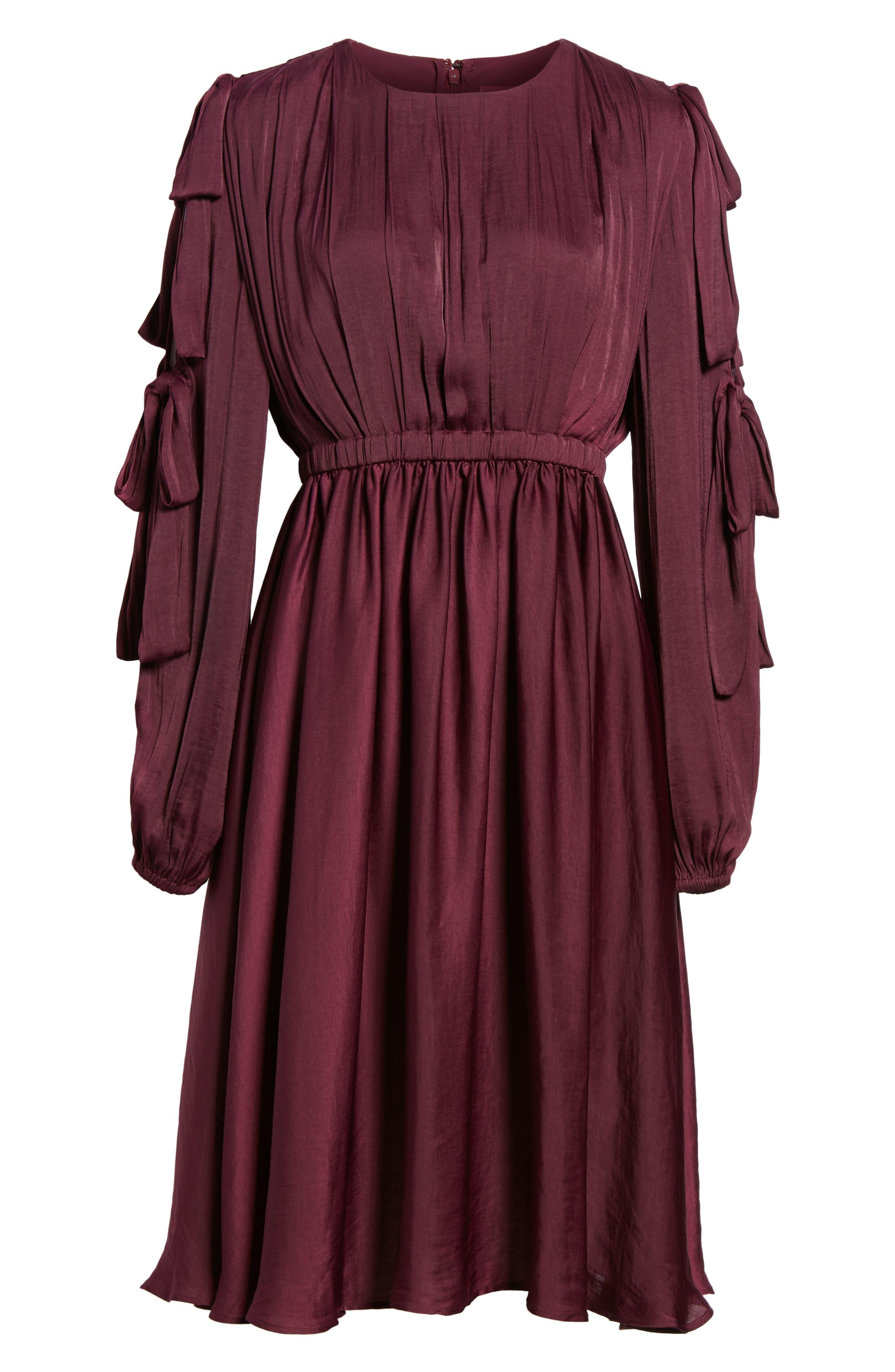 Mena Dress,                             Alternate thumbnail 6, color,                             Grape Wine