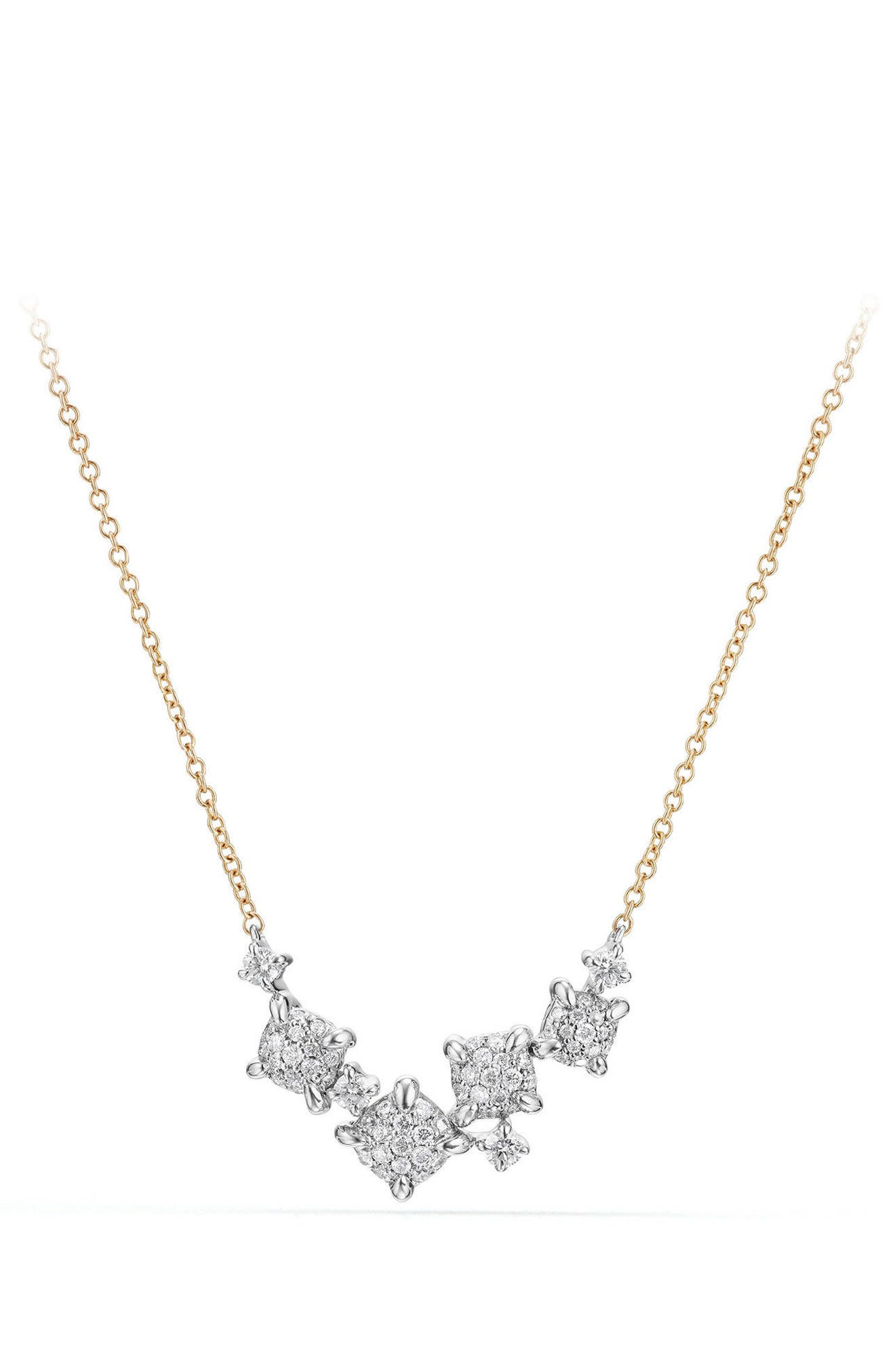 David Yurman Precious Châtelaine Necklace with Diamonds in 18K Gold