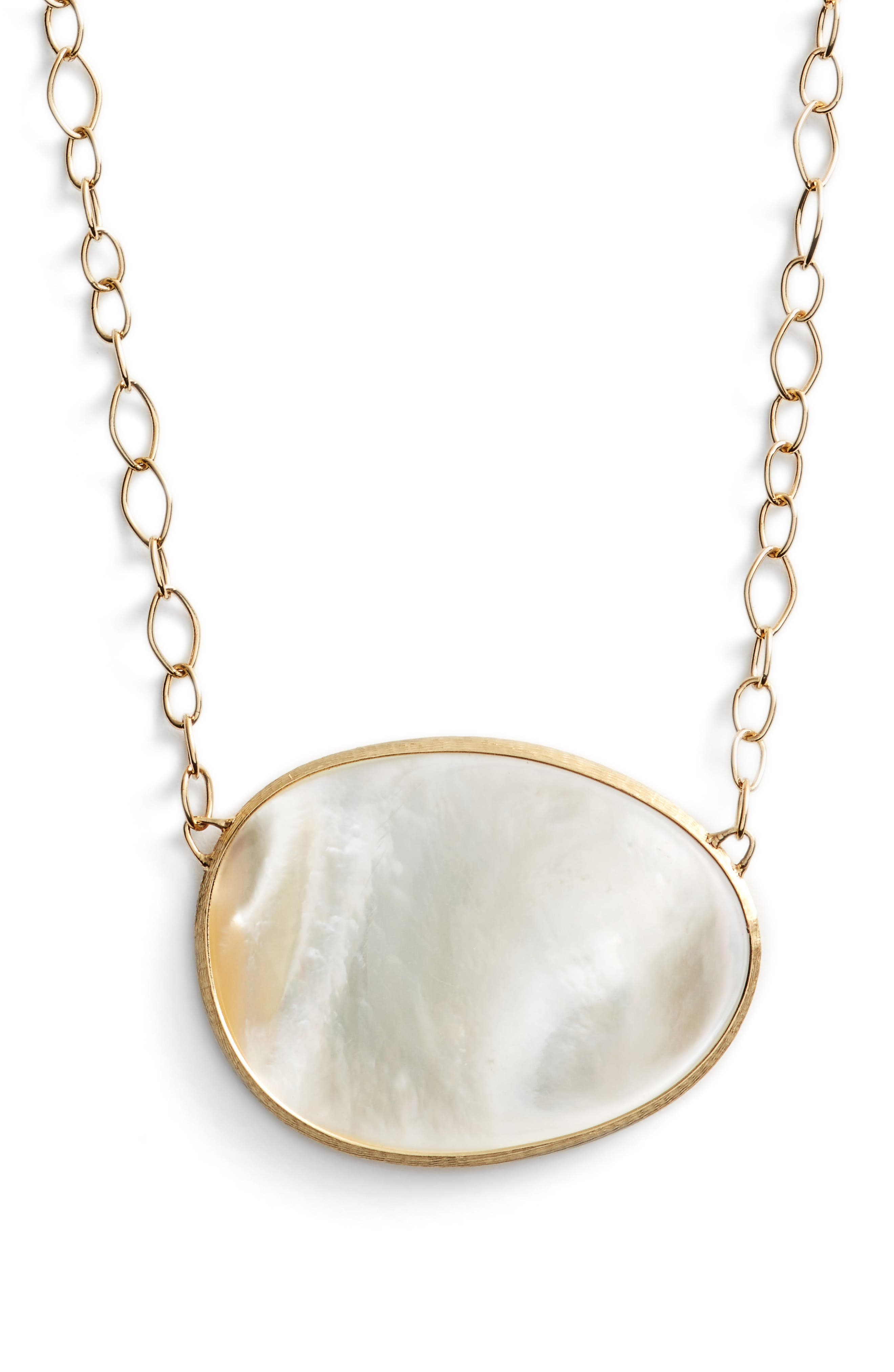 Marco Bicego Lunaria Mother of Pearl Pendant Necklace