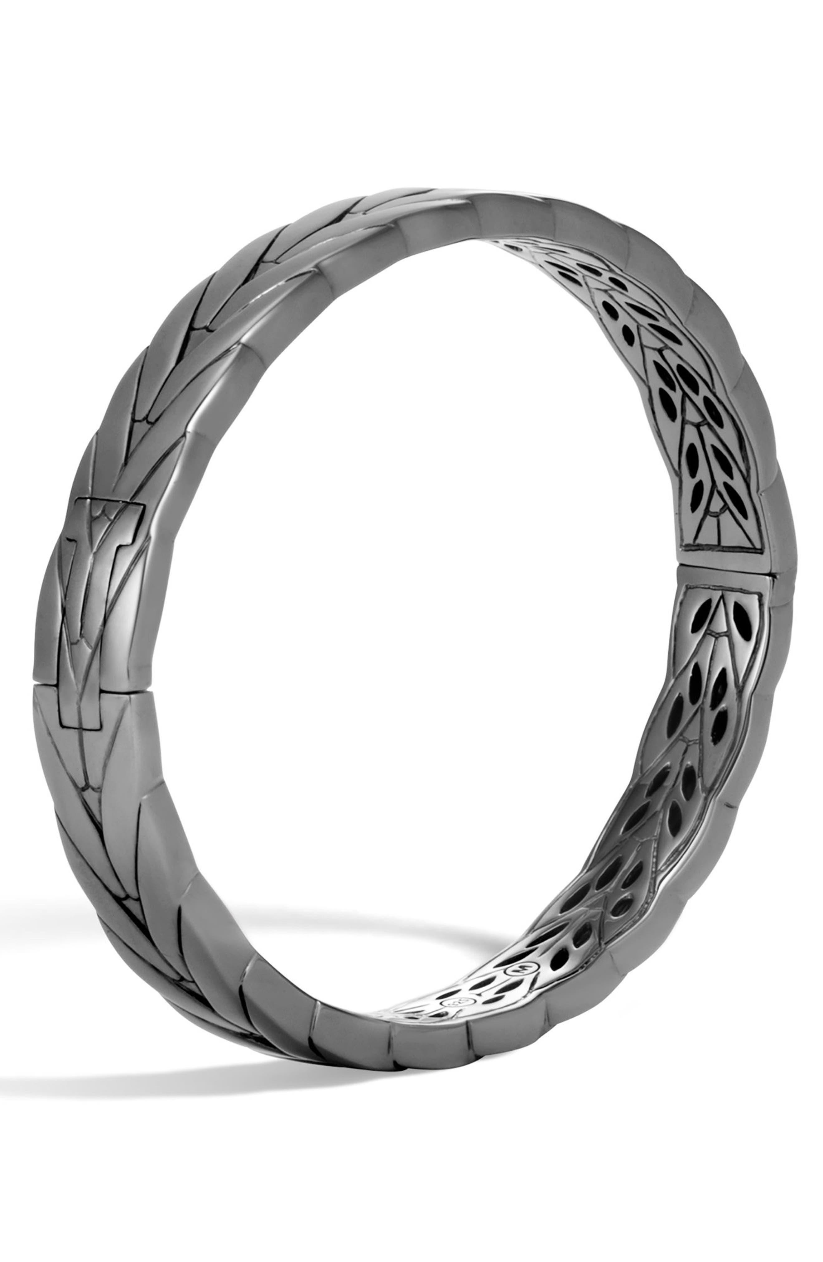 John Hardy Modern Chain Black Rhodium Bangle