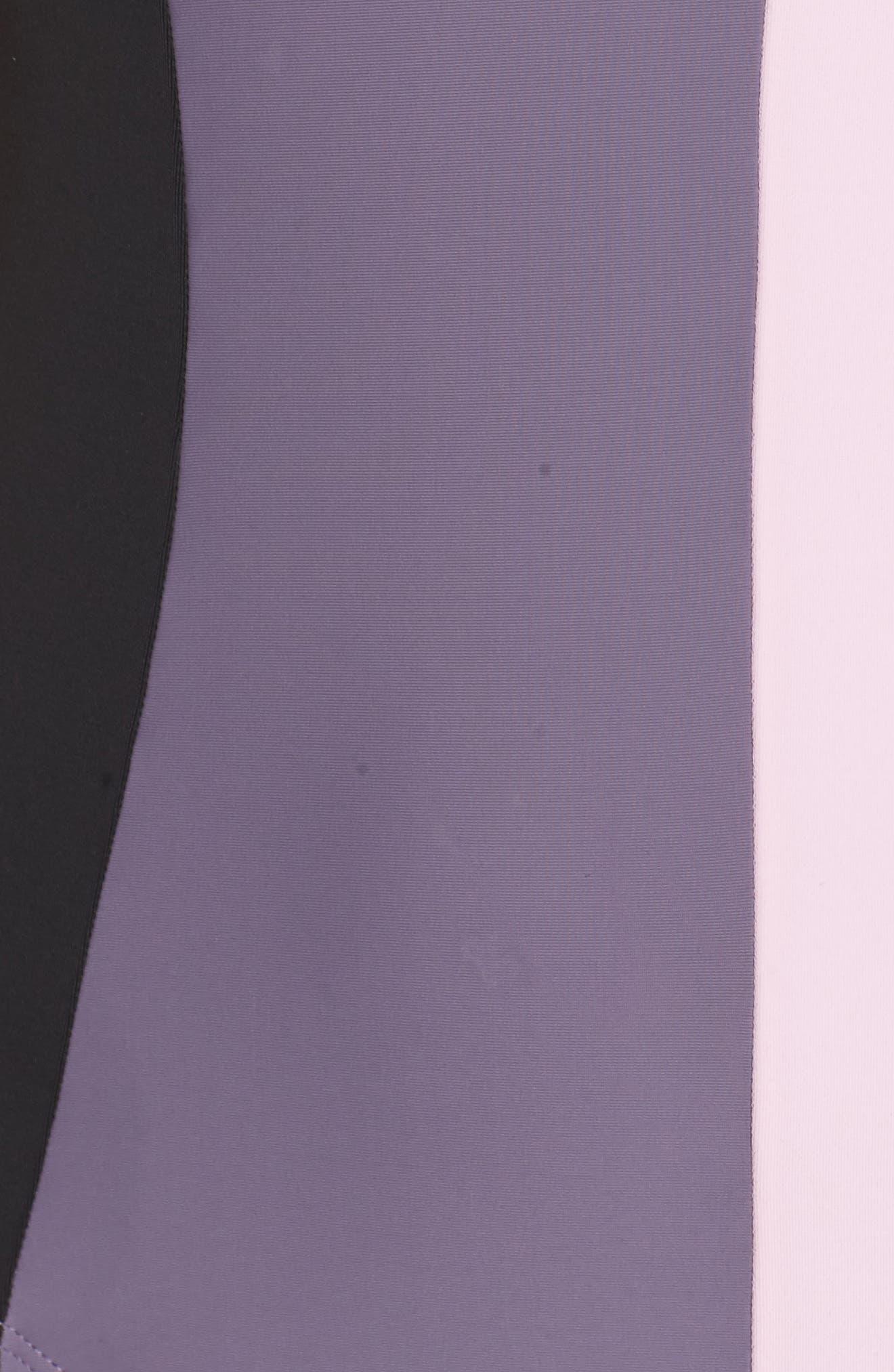 Farrah Colorblock One-Piece Swimsuit,                             Alternate thumbnail 5, color,                             Amethyst