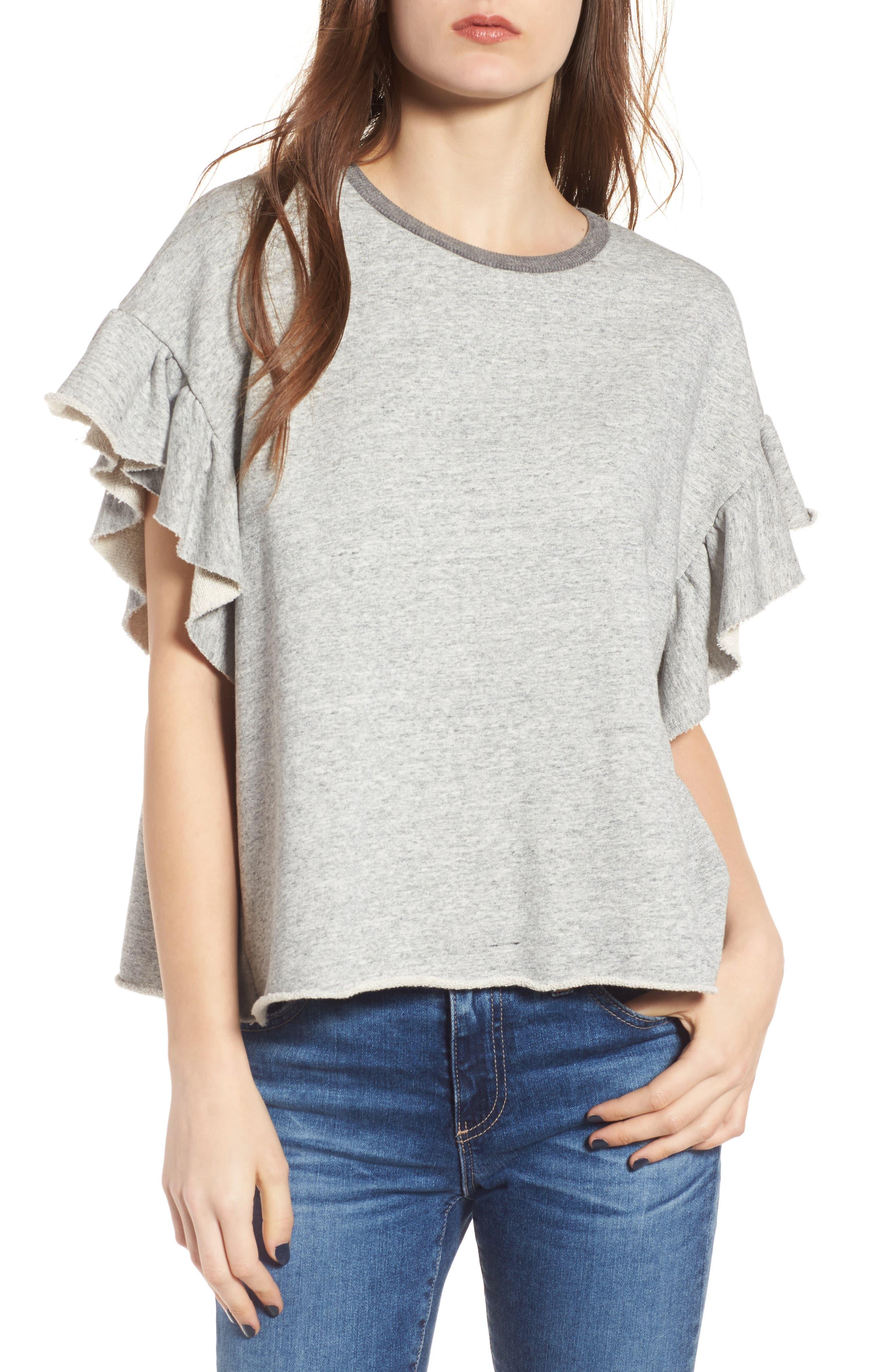 Bes Sweatshirt,                         Main,                         color, Heather Grey