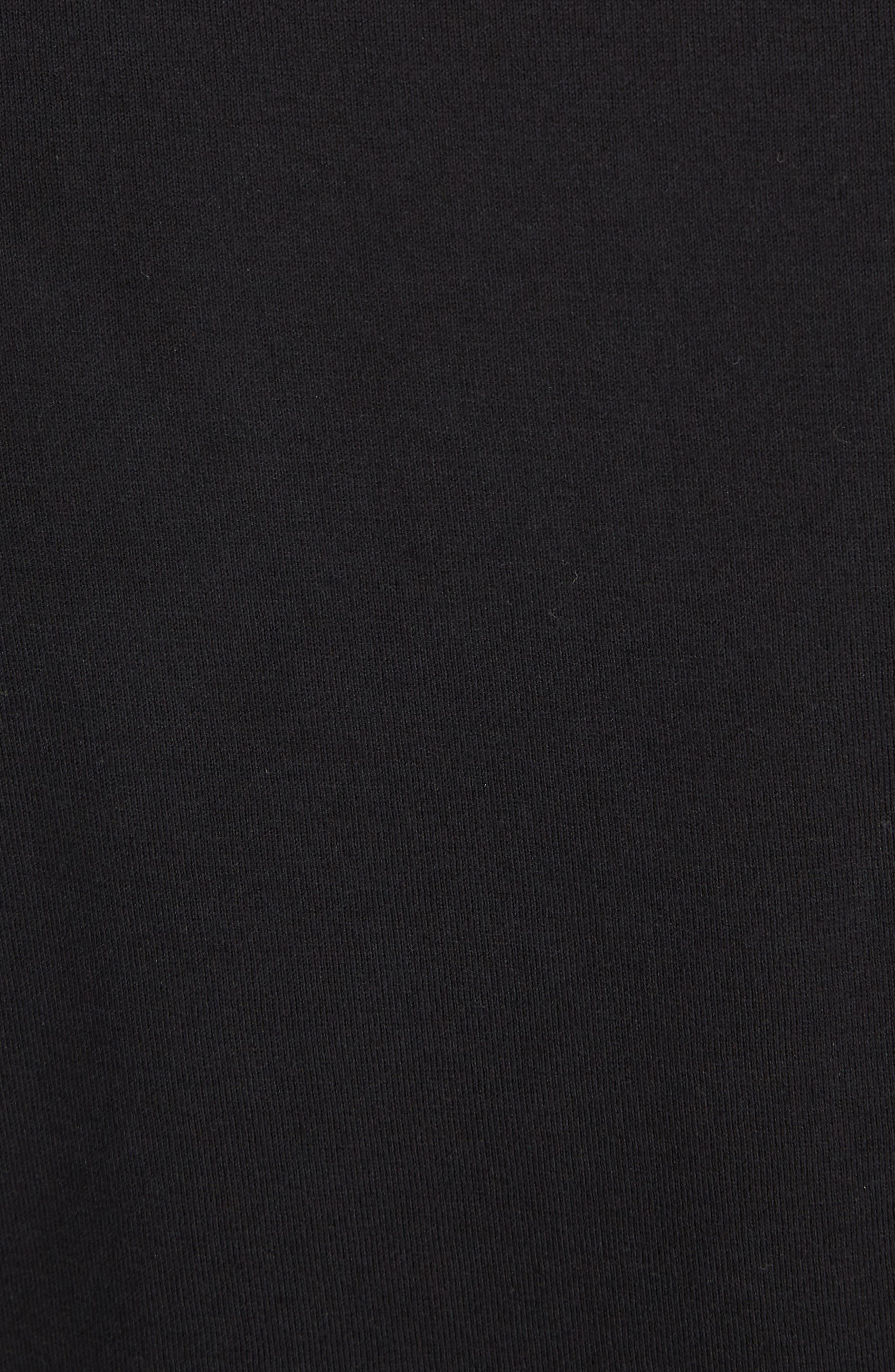 Jewel Print Crewneck T-Shirt,                             Alternate thumbnail 5, color,                             Black