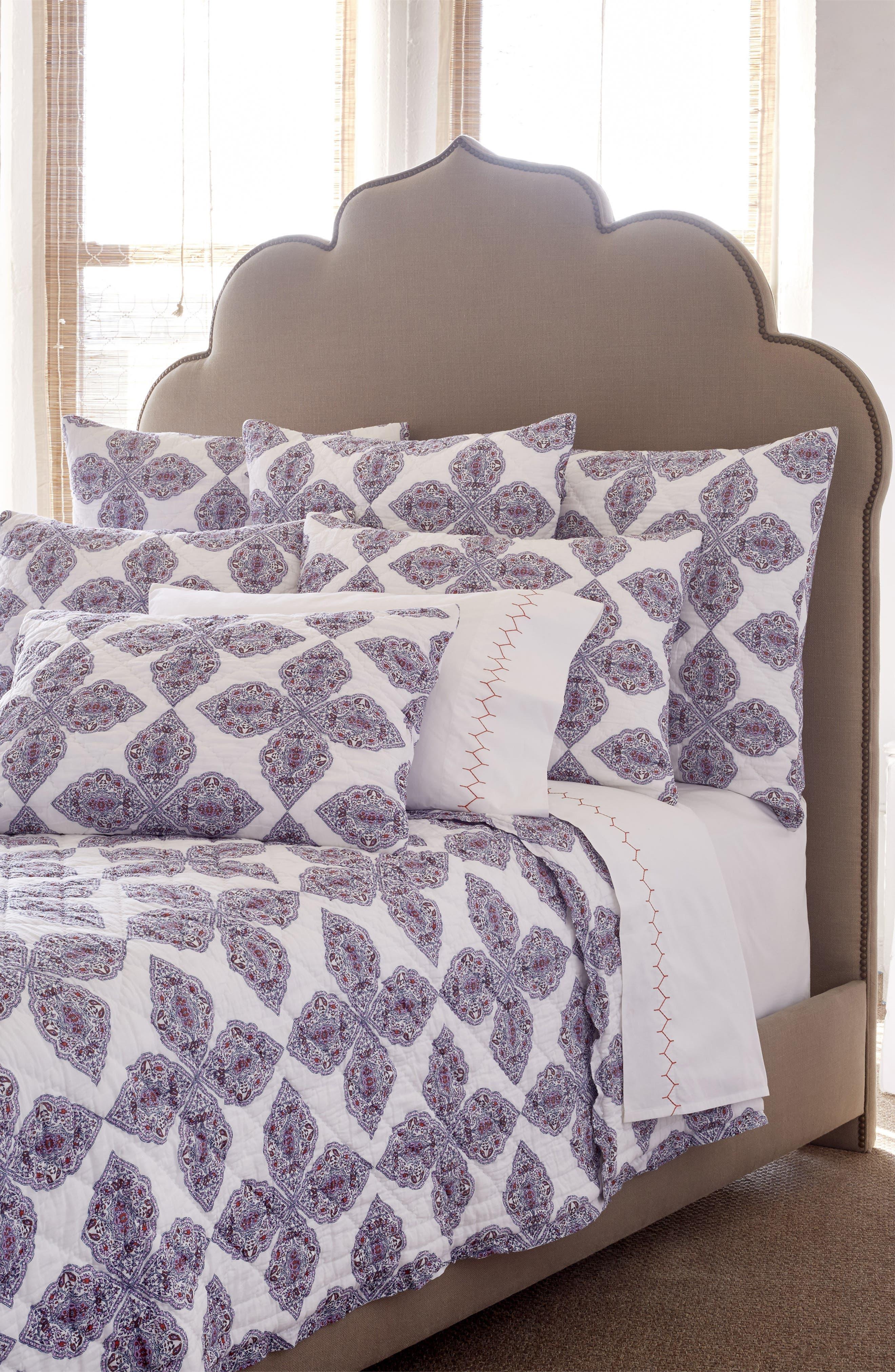 Tarati Quilt,                             Main thumbnail 1, color,                             Lavender/ Purple/ White