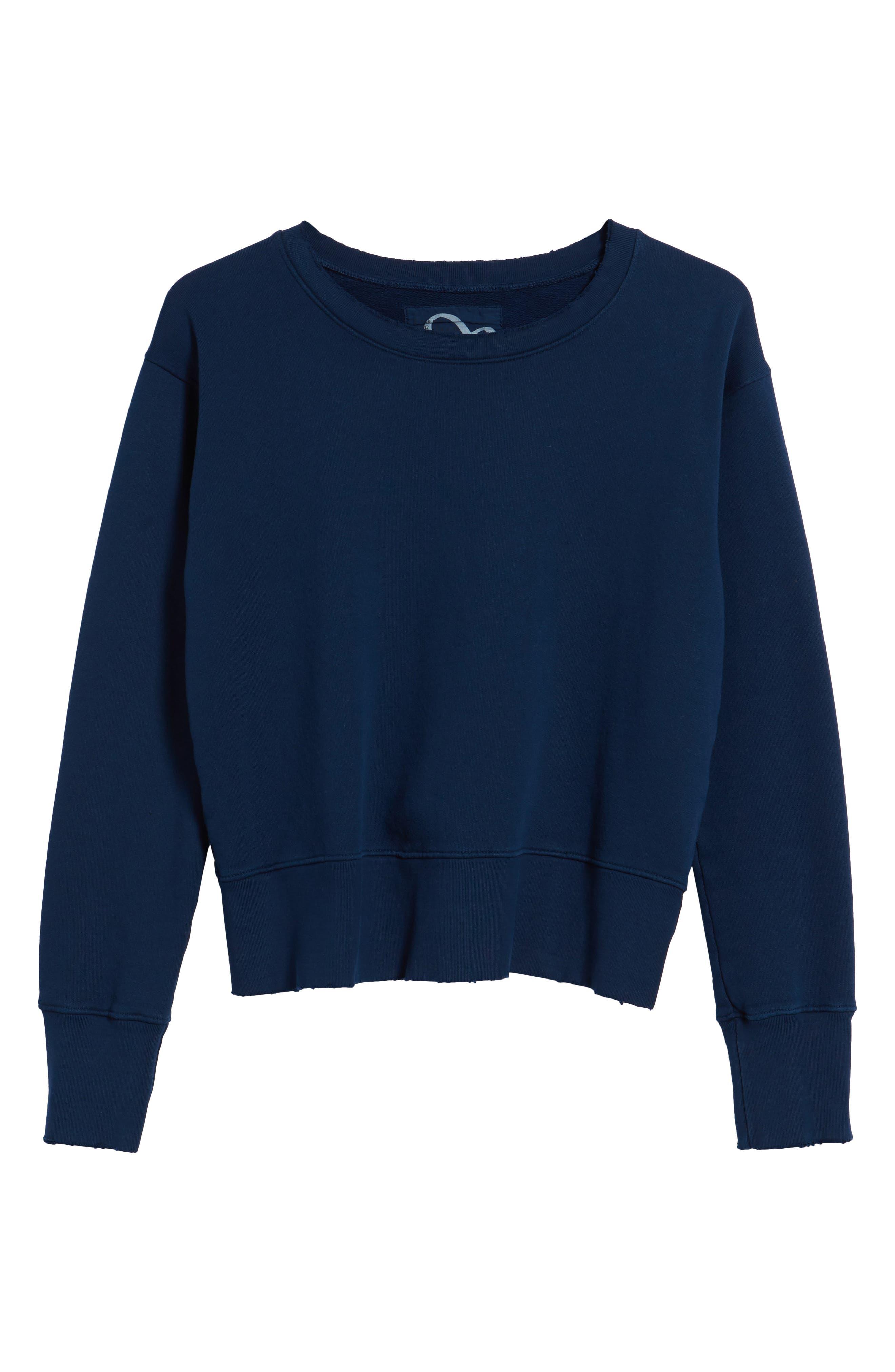 Distressed Sweatshirt,                             Alternate thumbnail 6, color,                             Blazer