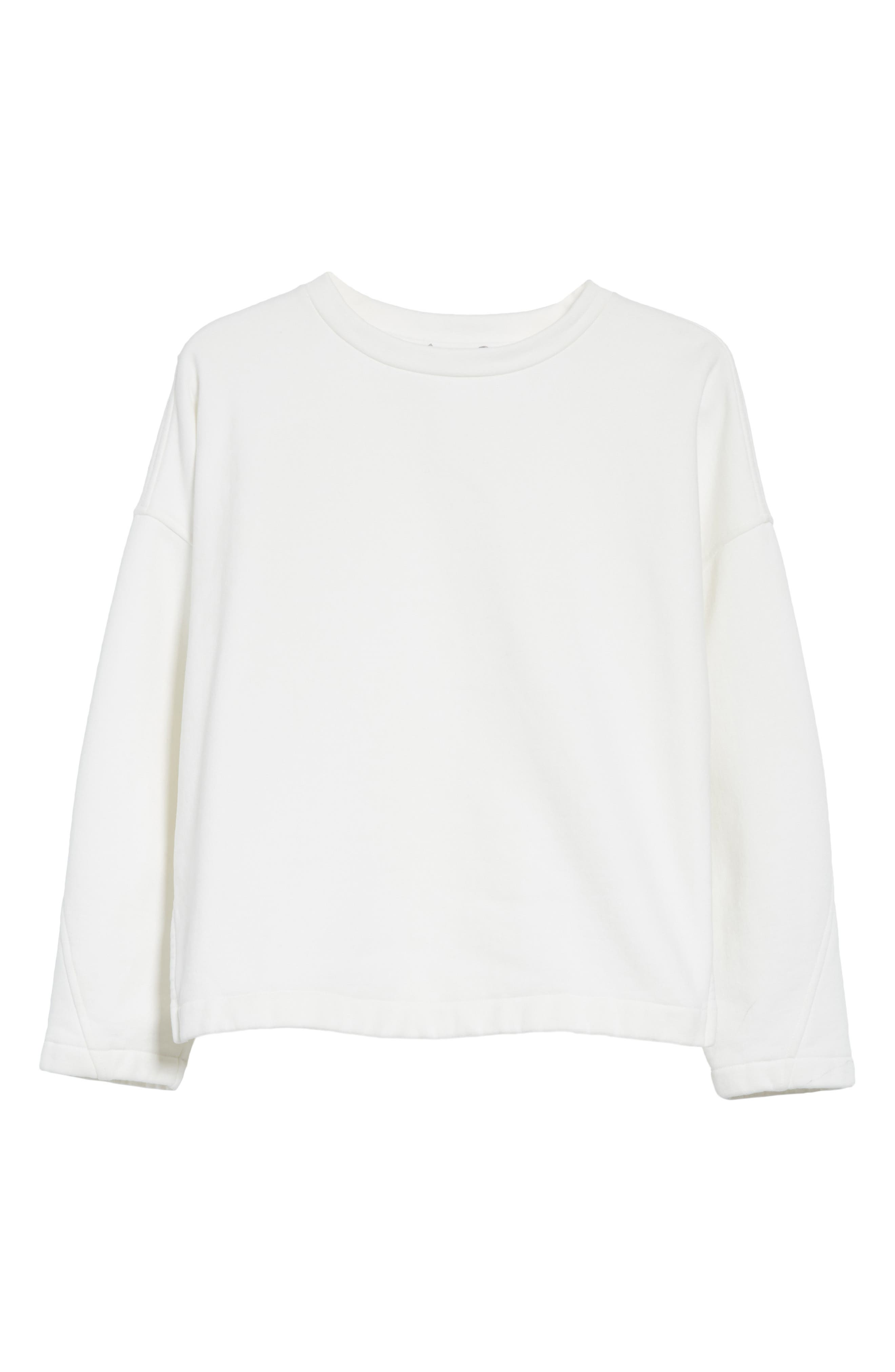 Mock Neck Sweatshirt,                             Alternate thumbnail 6, color,                             Vanilla