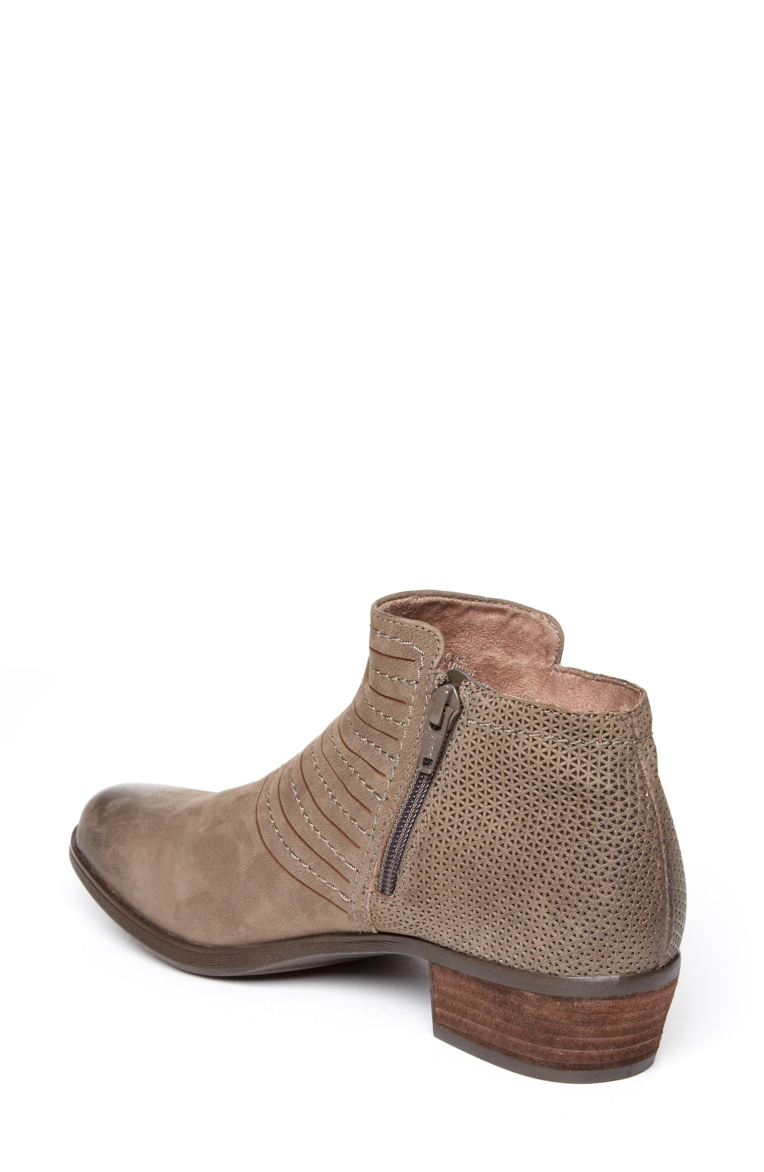 Vanna Strappy Bootie,                             Alternate thumbnail 2, color,                             Olive Grey Nubuck