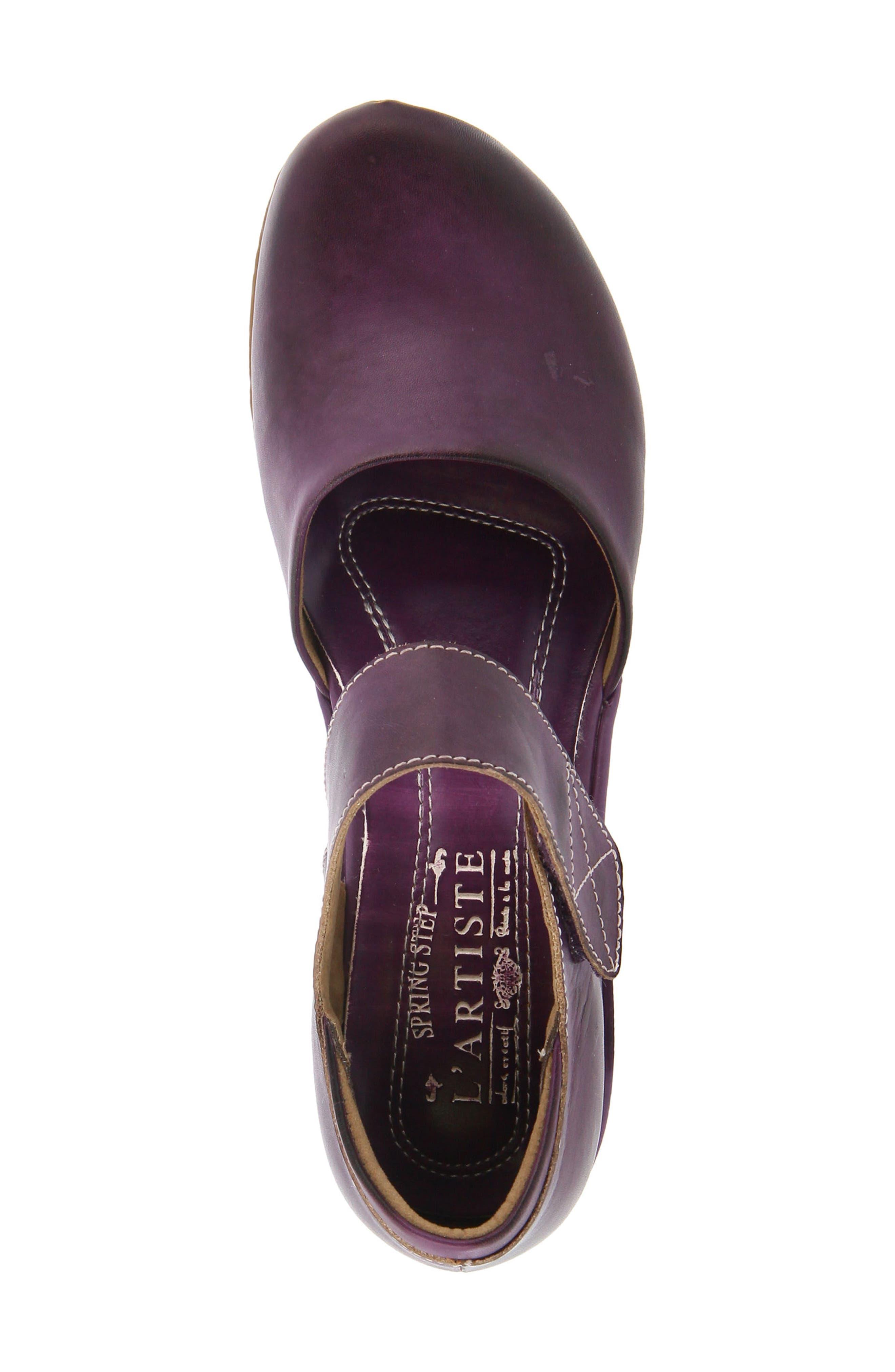 L'Artiste Gloss Mary Jane Pump,                             Alternate thumbnail 4, color,                             Purple Leather