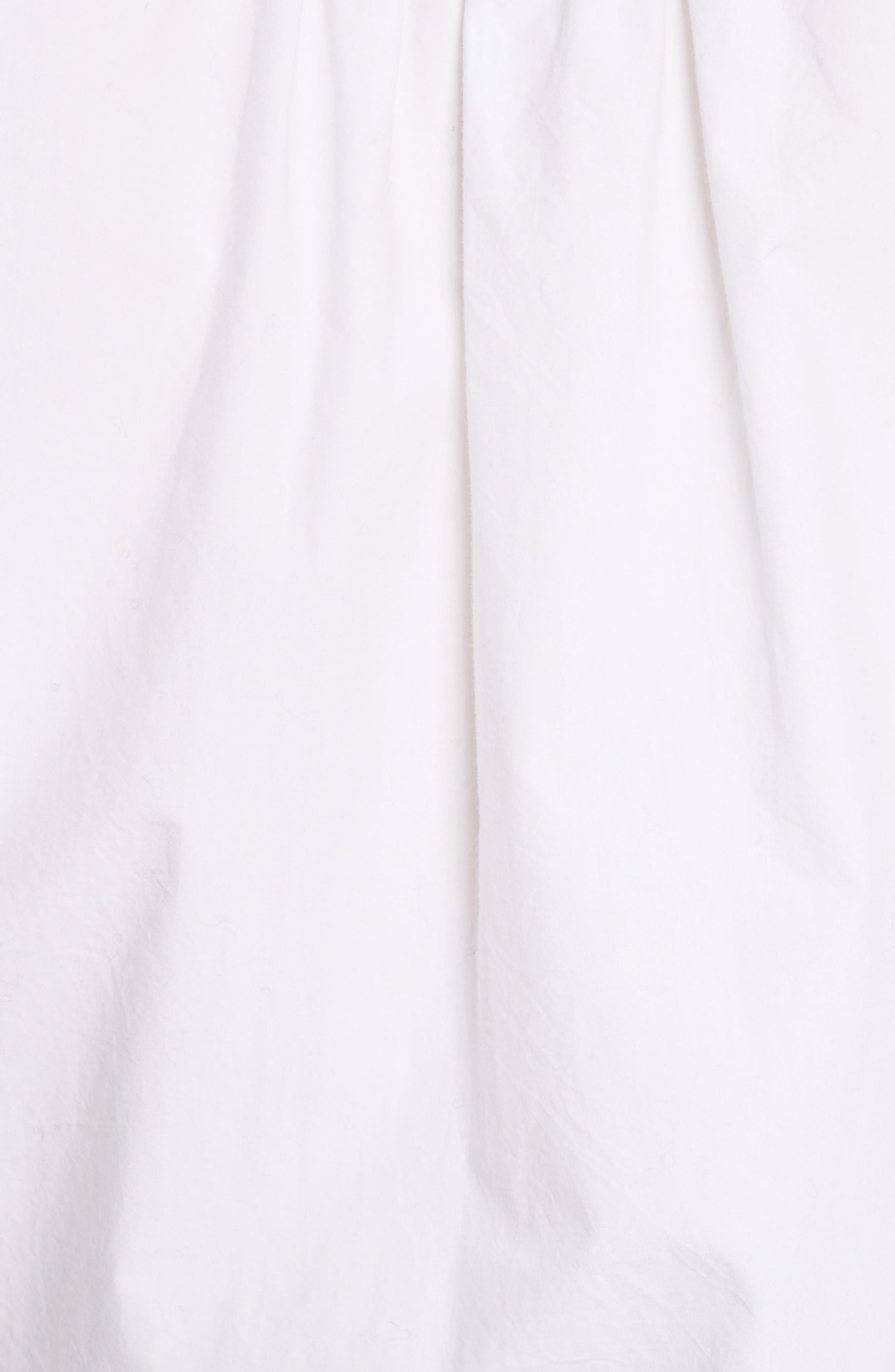 Anjanique B Button Down Cotton Shirt,                             Alternate thumbnail 5, color,                             Clean White