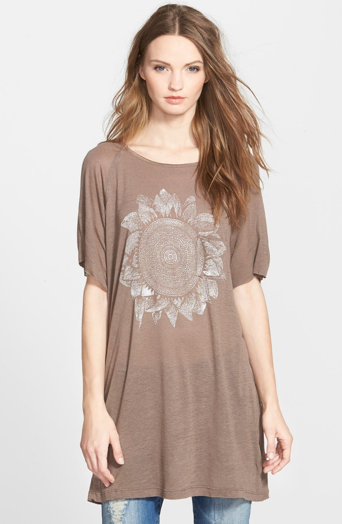 Project Social T Sunflower Graphic Tee,                         Main,                         color, Shitake