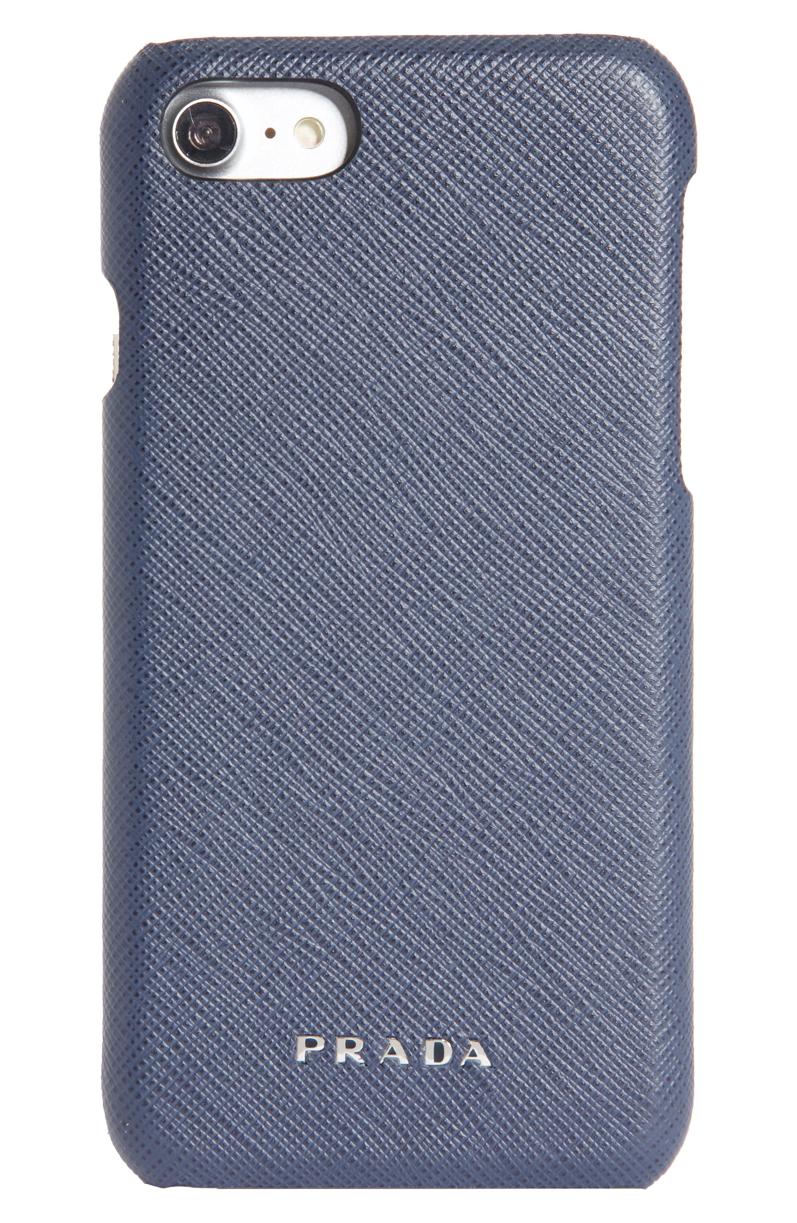 Main Image - Prada Saffiano Leather iPhone 6/6s/7/8 Case