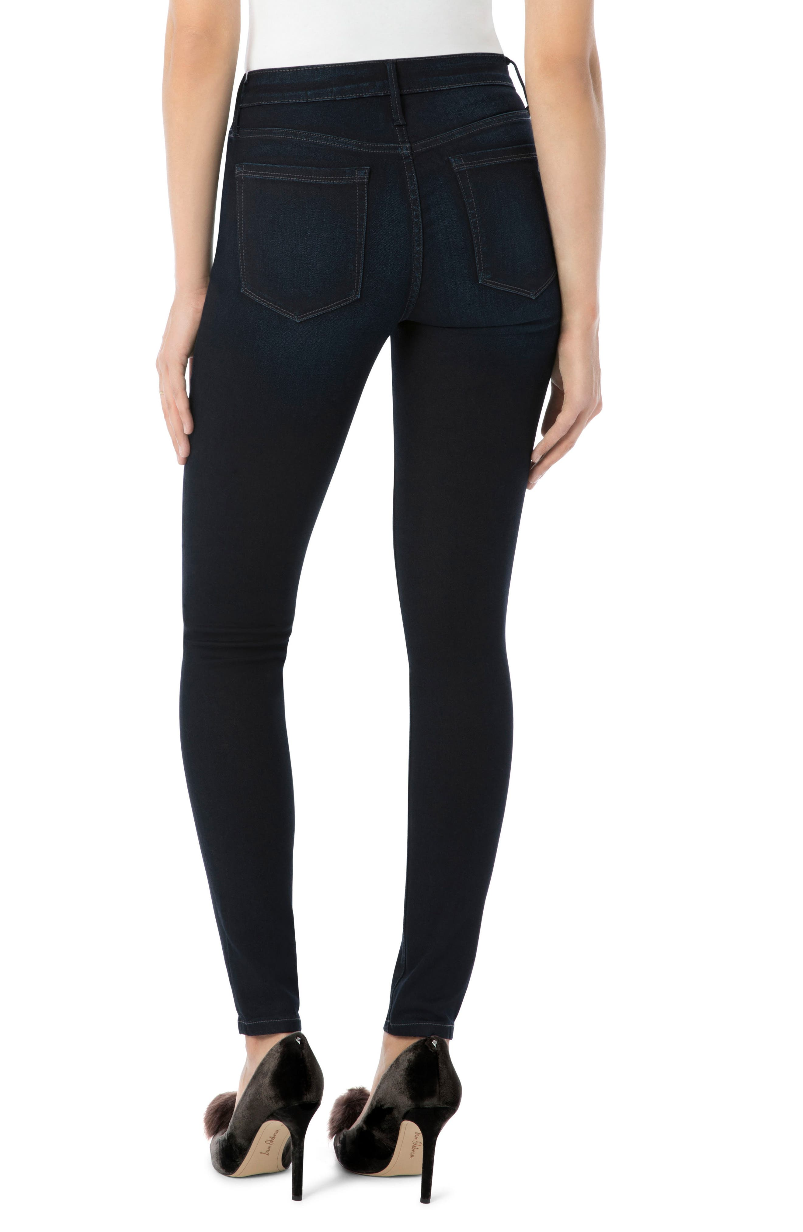 Stiletto High Rise Skinny Jeans,                             Alternate thumbnail 2, color,                             Bronwyn