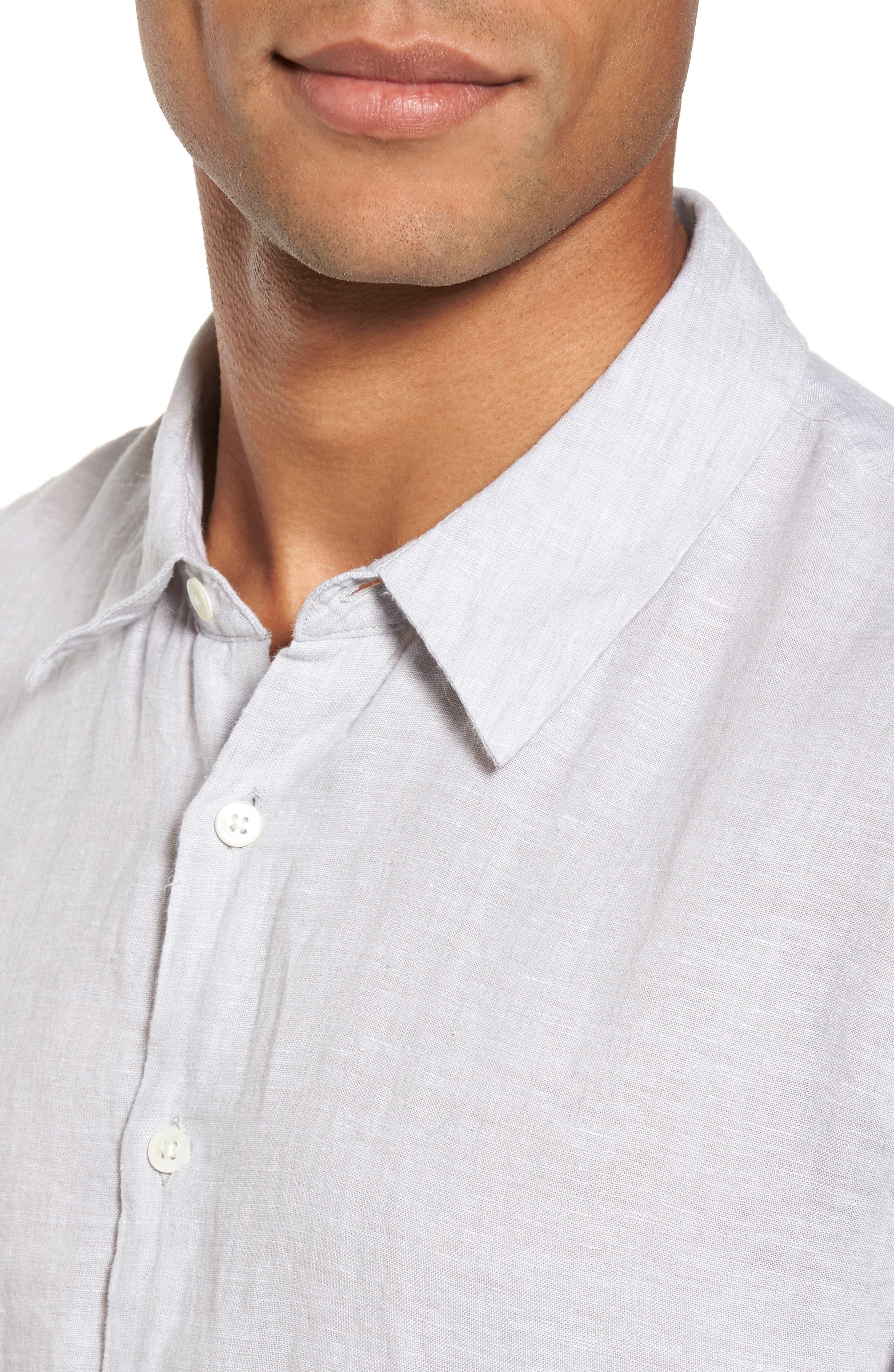 Alternate Image 4  - James Perse Slim Fit Linen Sport Shirt