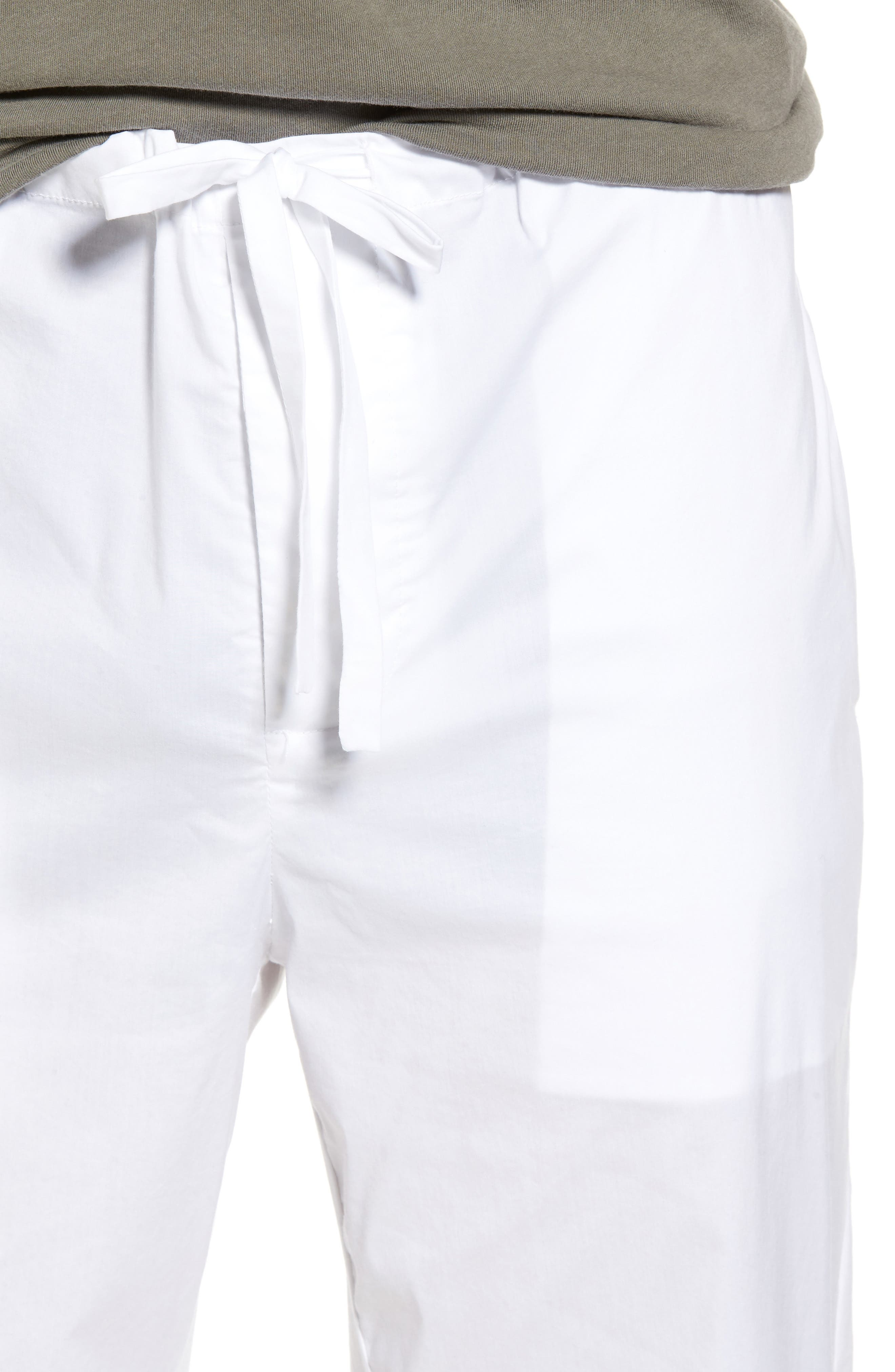 Drawstring Waist Pants,                             Alternate thumbnail 4, color,                             White