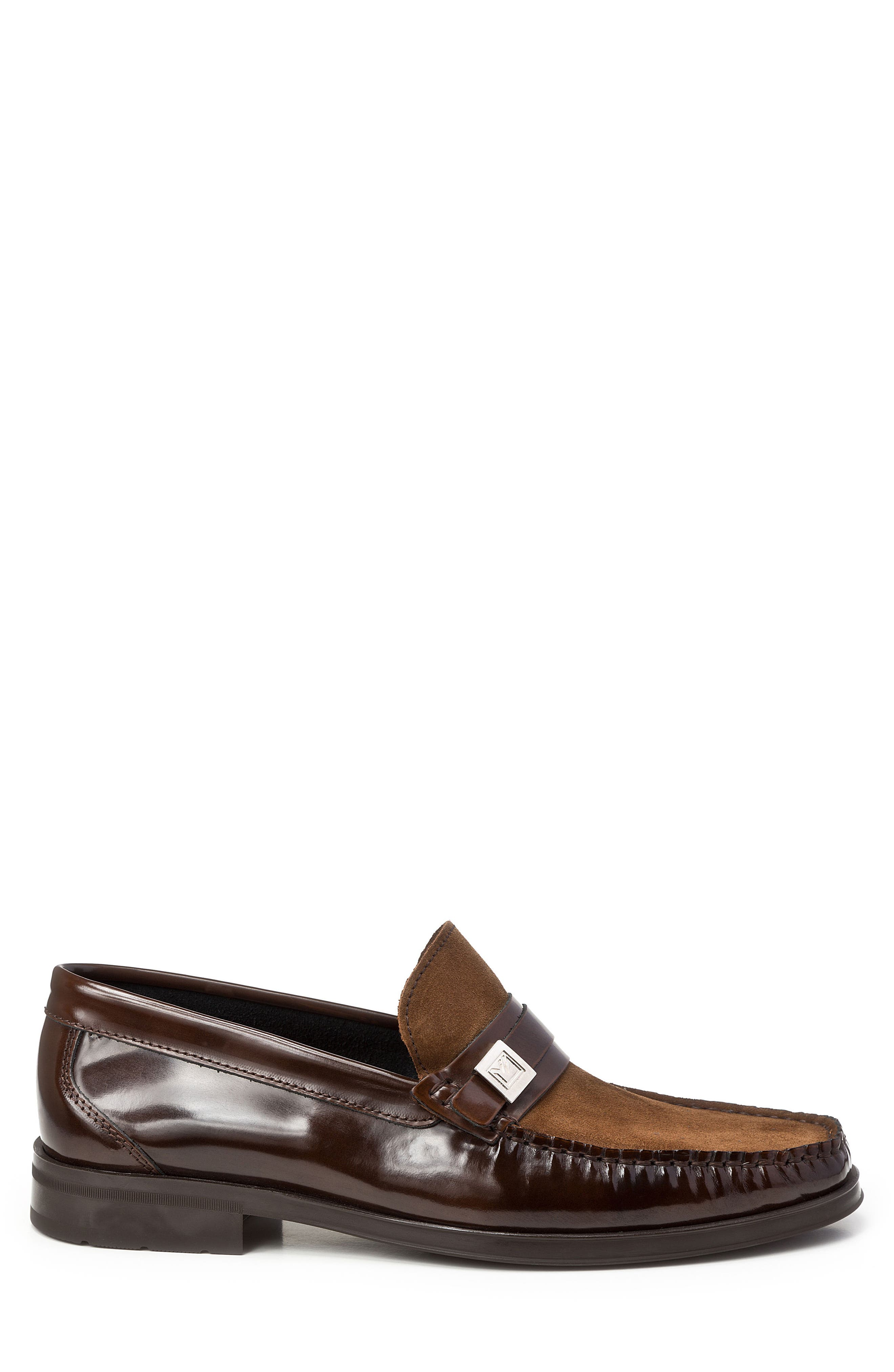 Avila Loafer,                             Alternate thumbnail 3, color,                             Brown Leather