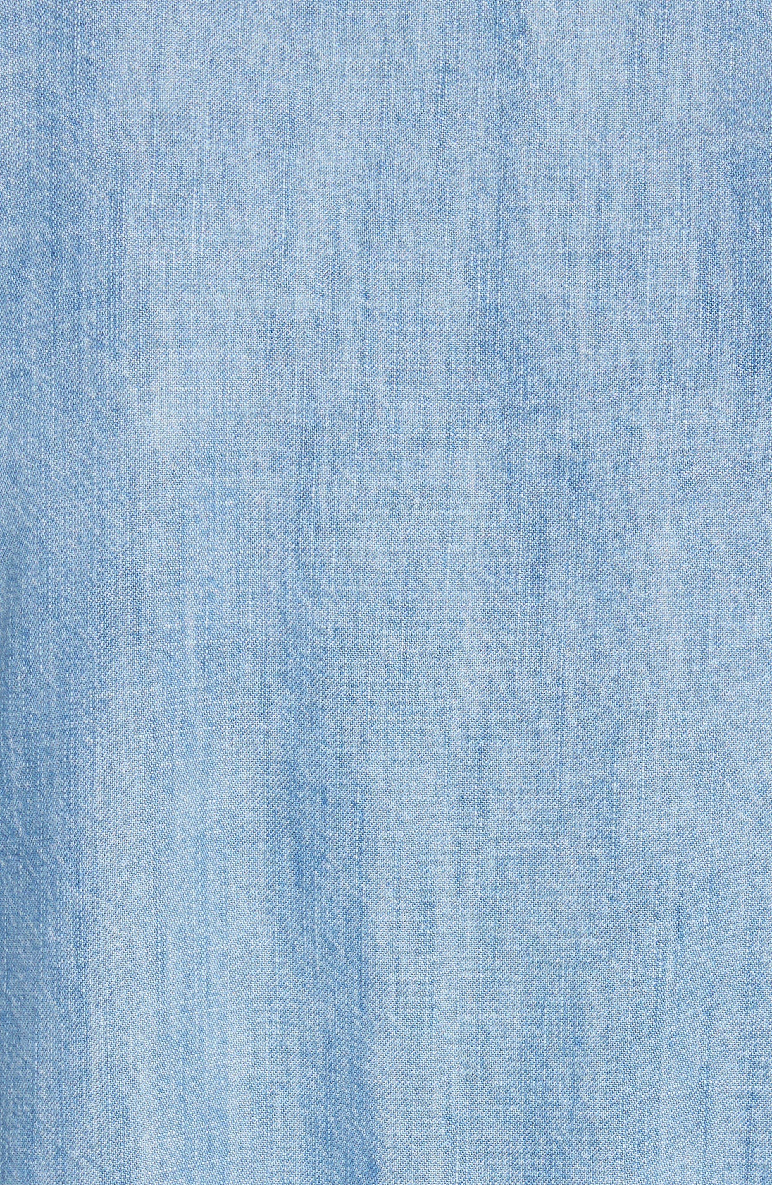 Alternate Image 5  - Joie Bealette Lace-Up Chambray Top