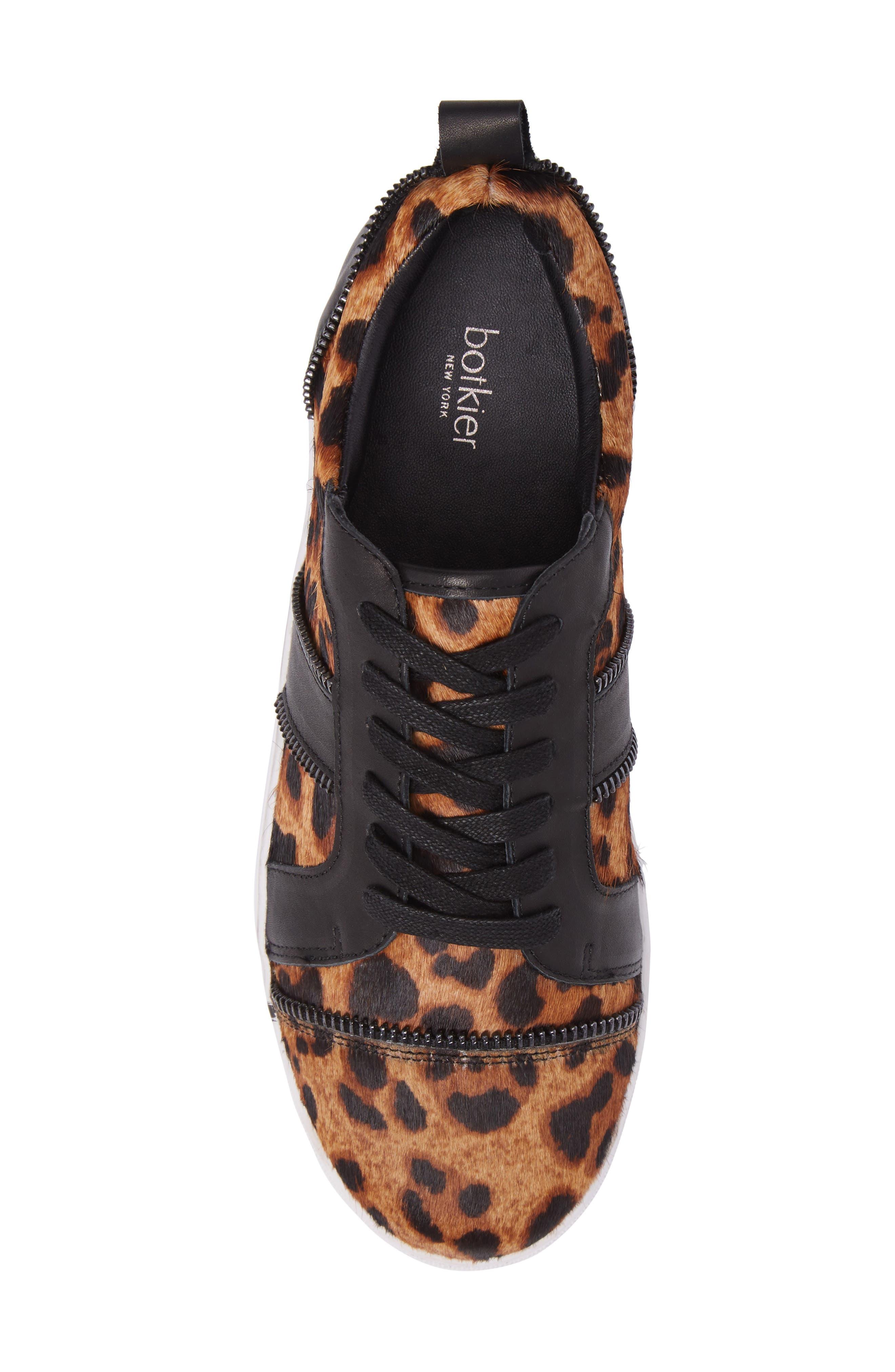 Harvey Genuine Calf Hair Sneaker,                             Alternate thumbnail 5, color,                             Leopard Calf Hair