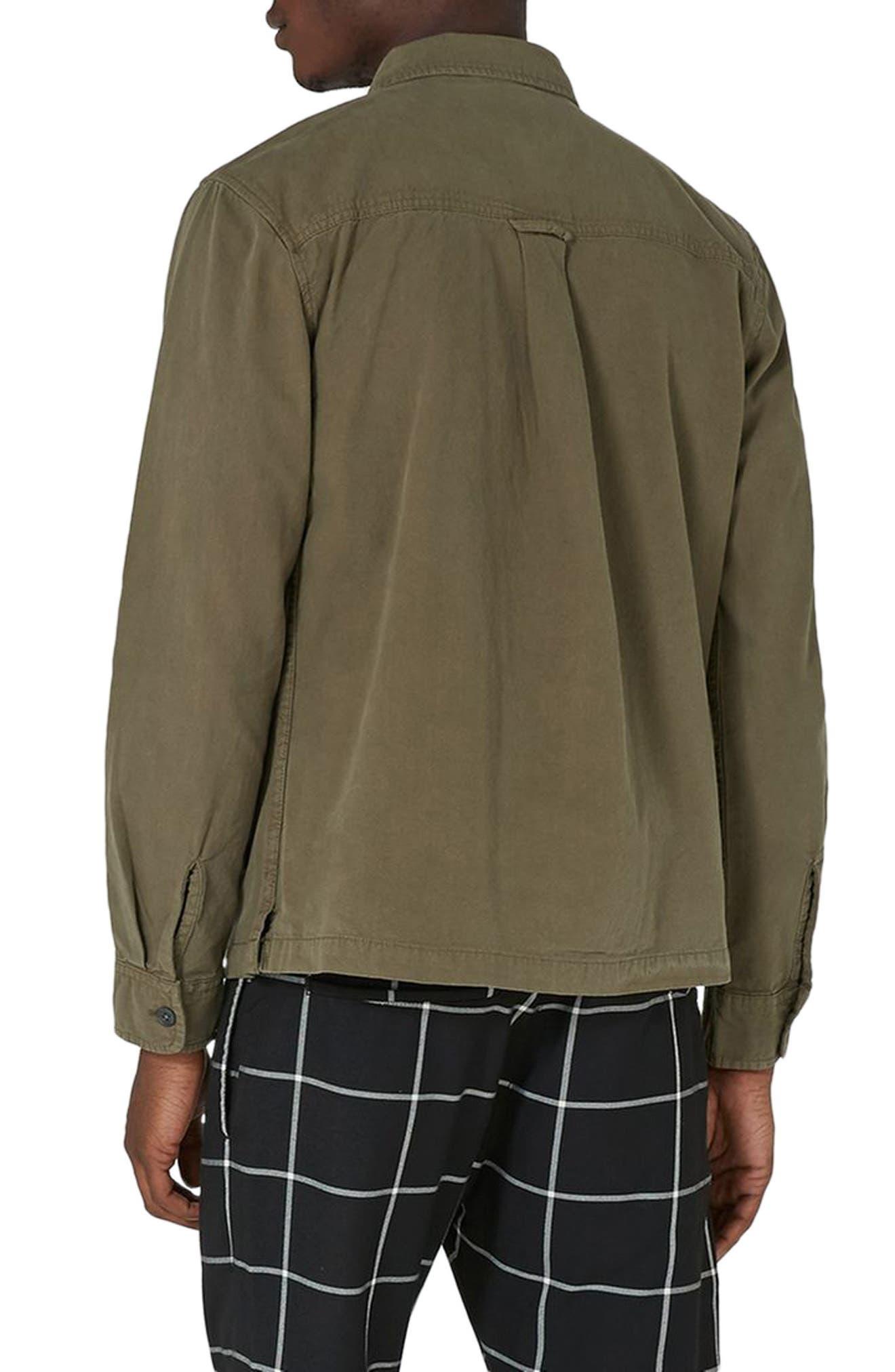 Alternate Image 2  - Topman Zip Front Shirt Jacket