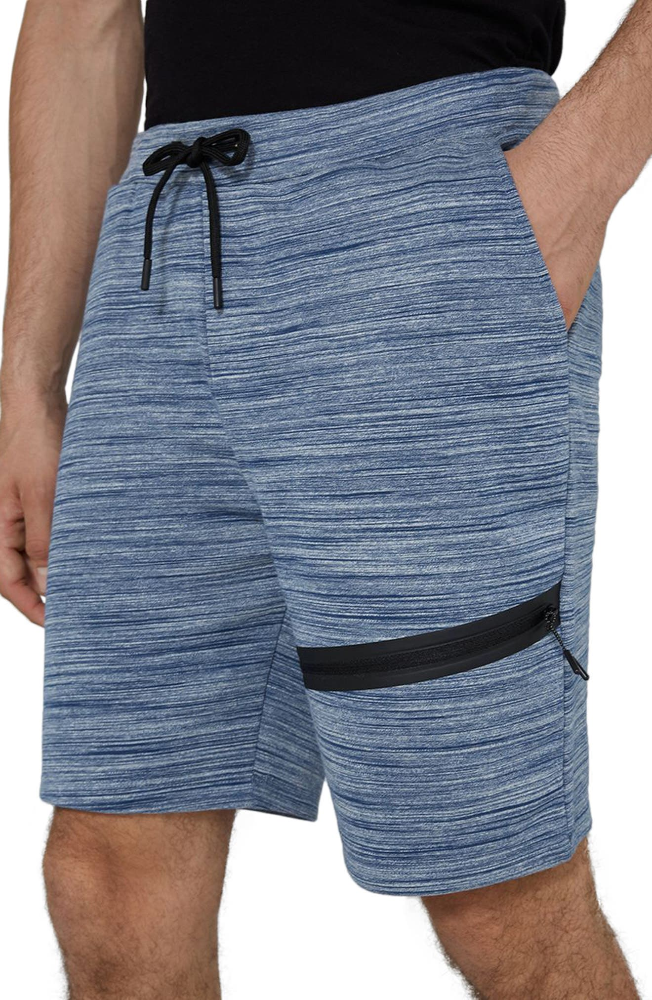 Space Dye Tech Shorts,                             Alternate thumbnail 3, color,                             Mid Blue