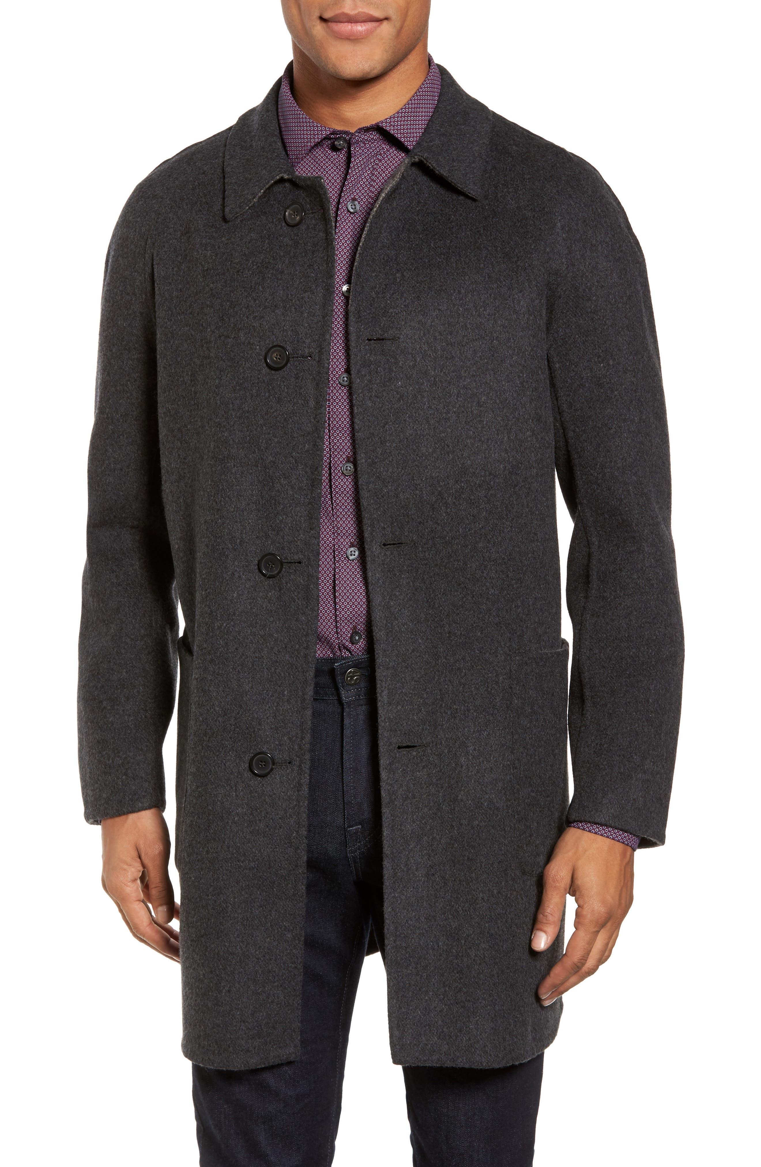 Billy Reid Reversible Wool & Cashmere Walking Coat