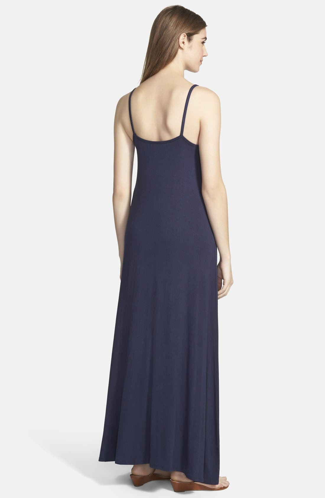 Alternate Image 2  - Loveappella Maxi Dress (Regular & Petite)