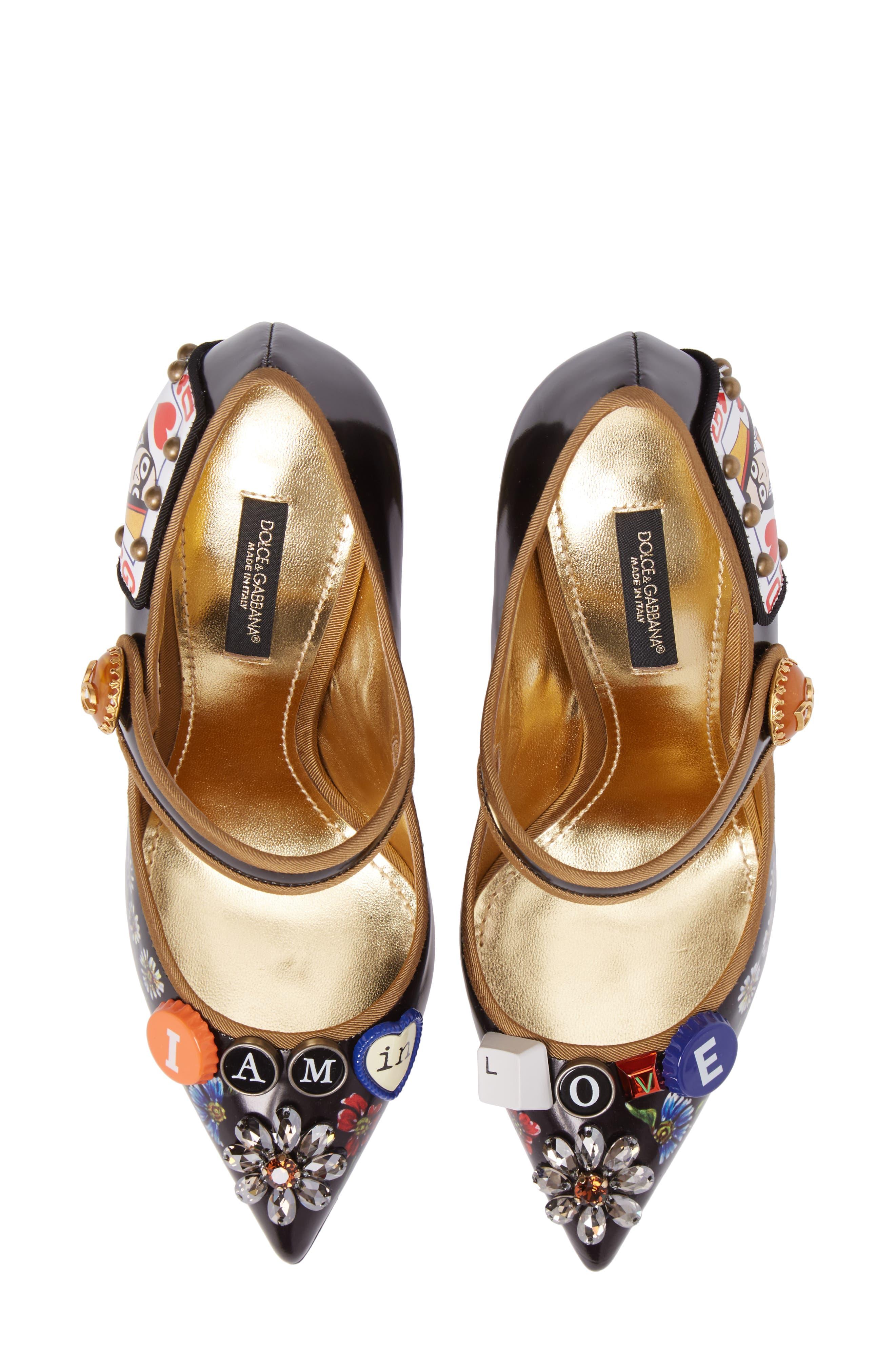 Alternate Image 1 Selected - Dolce&Gabbana Embellished Mary Jane Pump (Women)