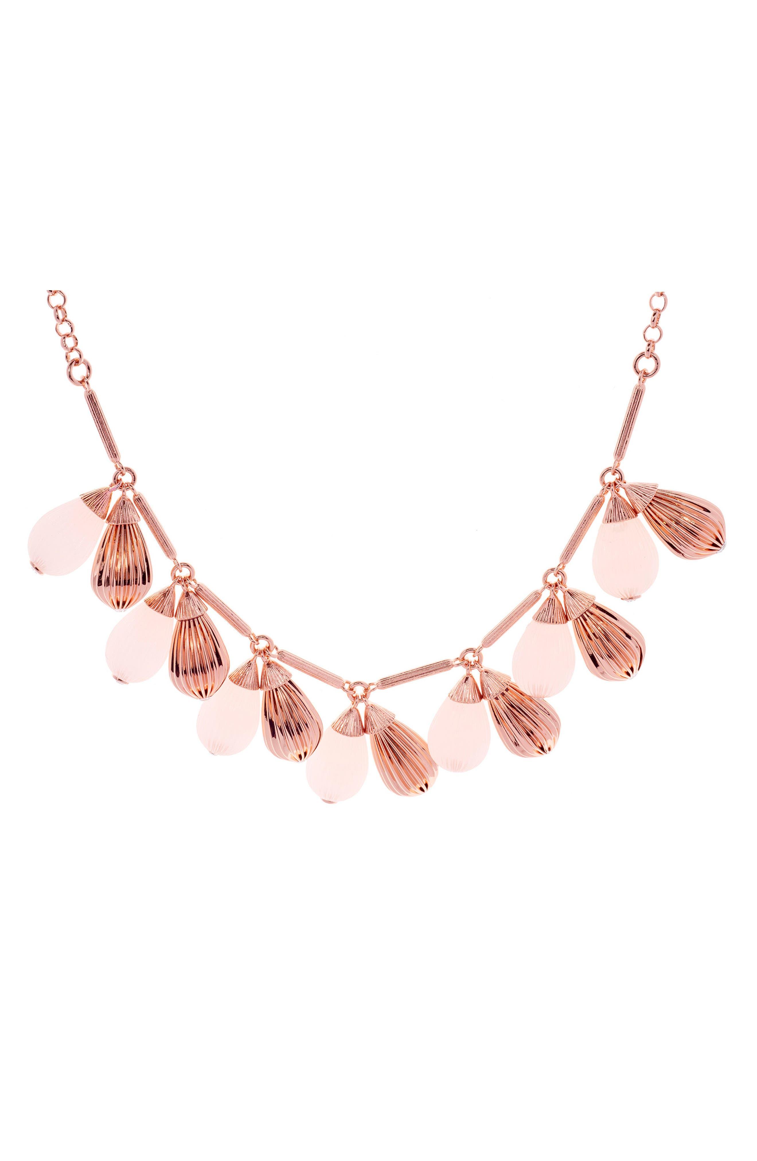 Alternate Image 2  - Ted Baker London Mini Plissé Drop Necklace