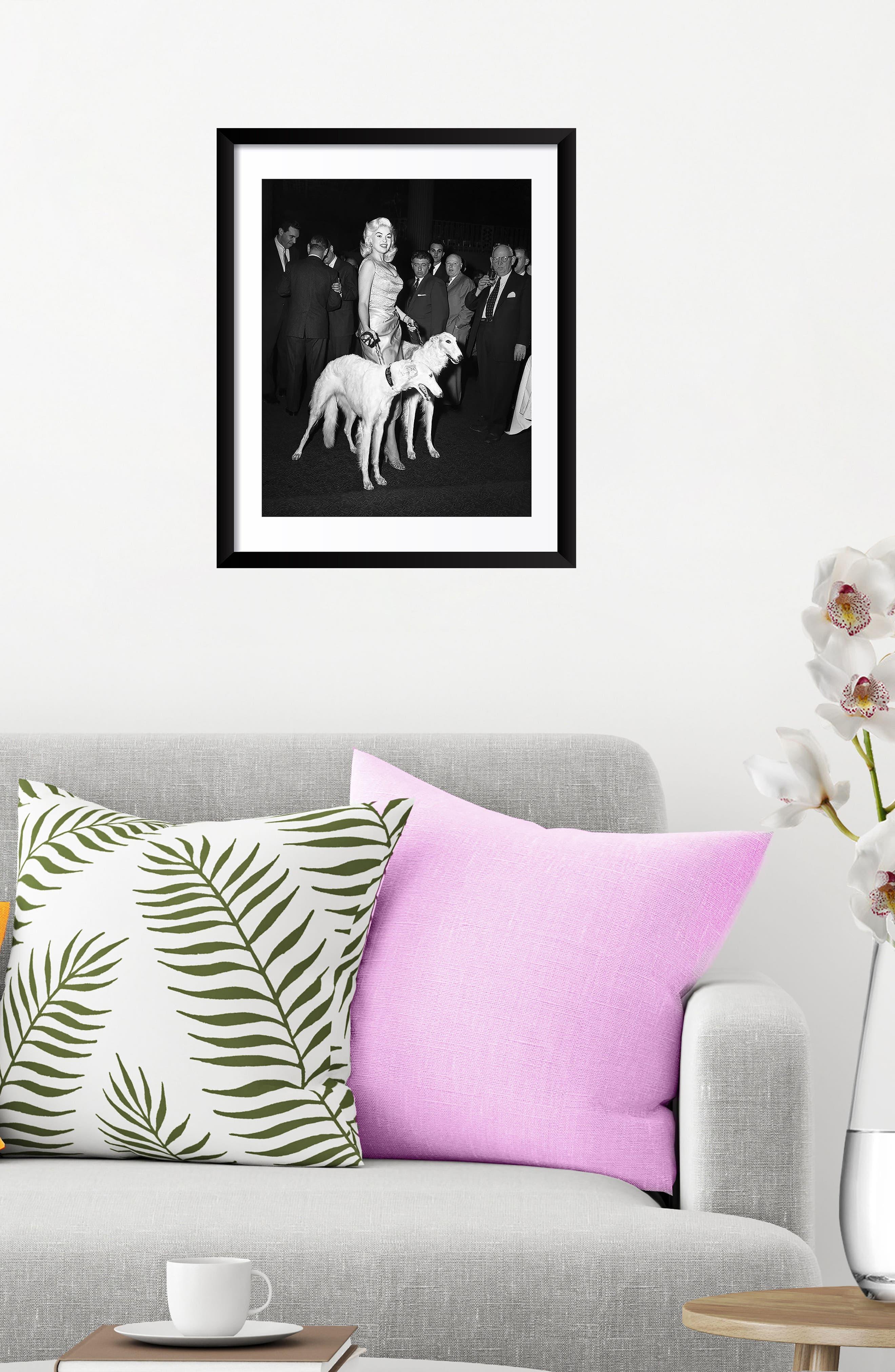 Jayne Mansfield Fine Art Print,                             Alternate thumbnail 2, color,                             Black