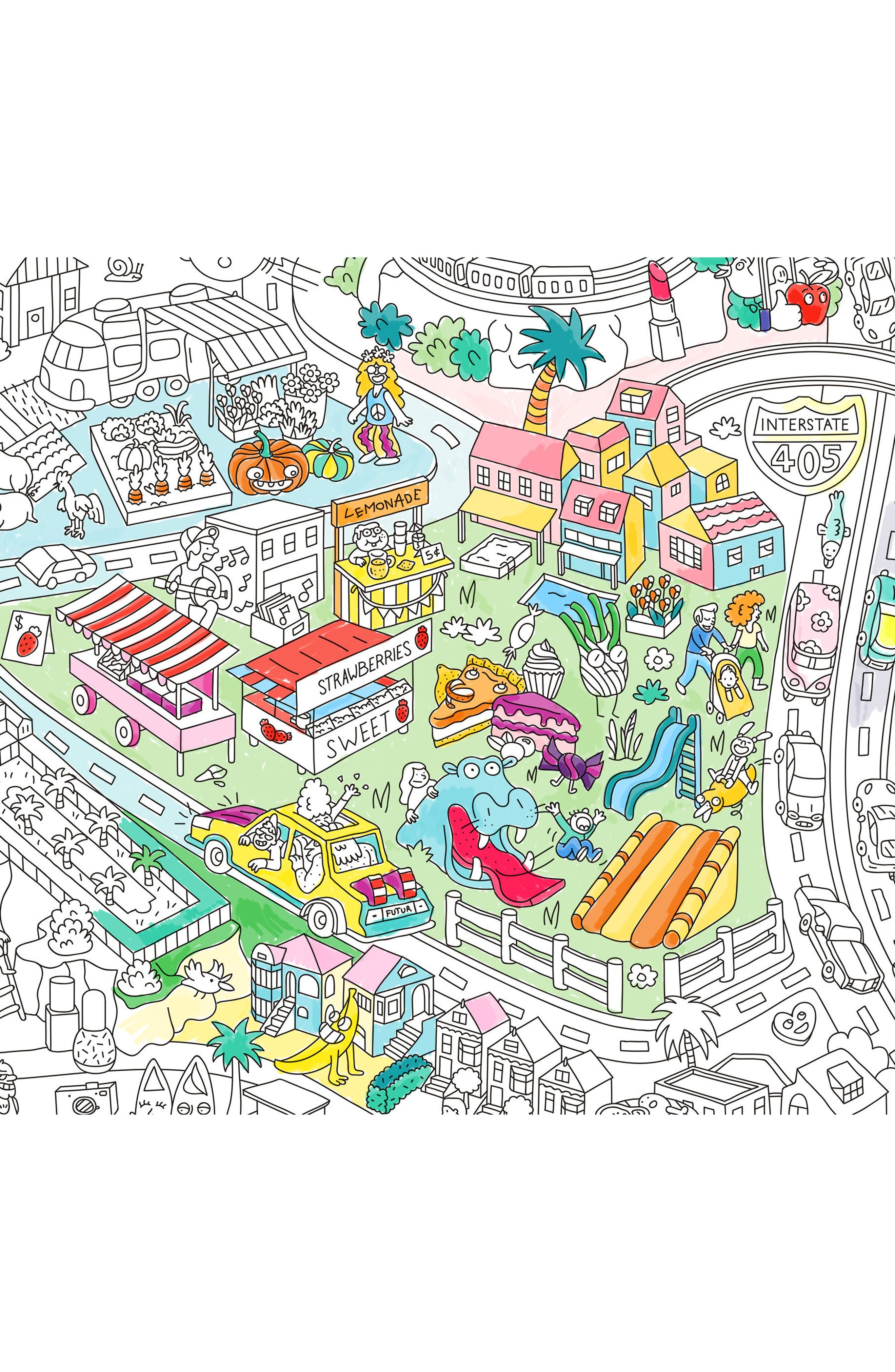Alternate Image 2  - OMY Los Angeles Giant Coloring Poster
